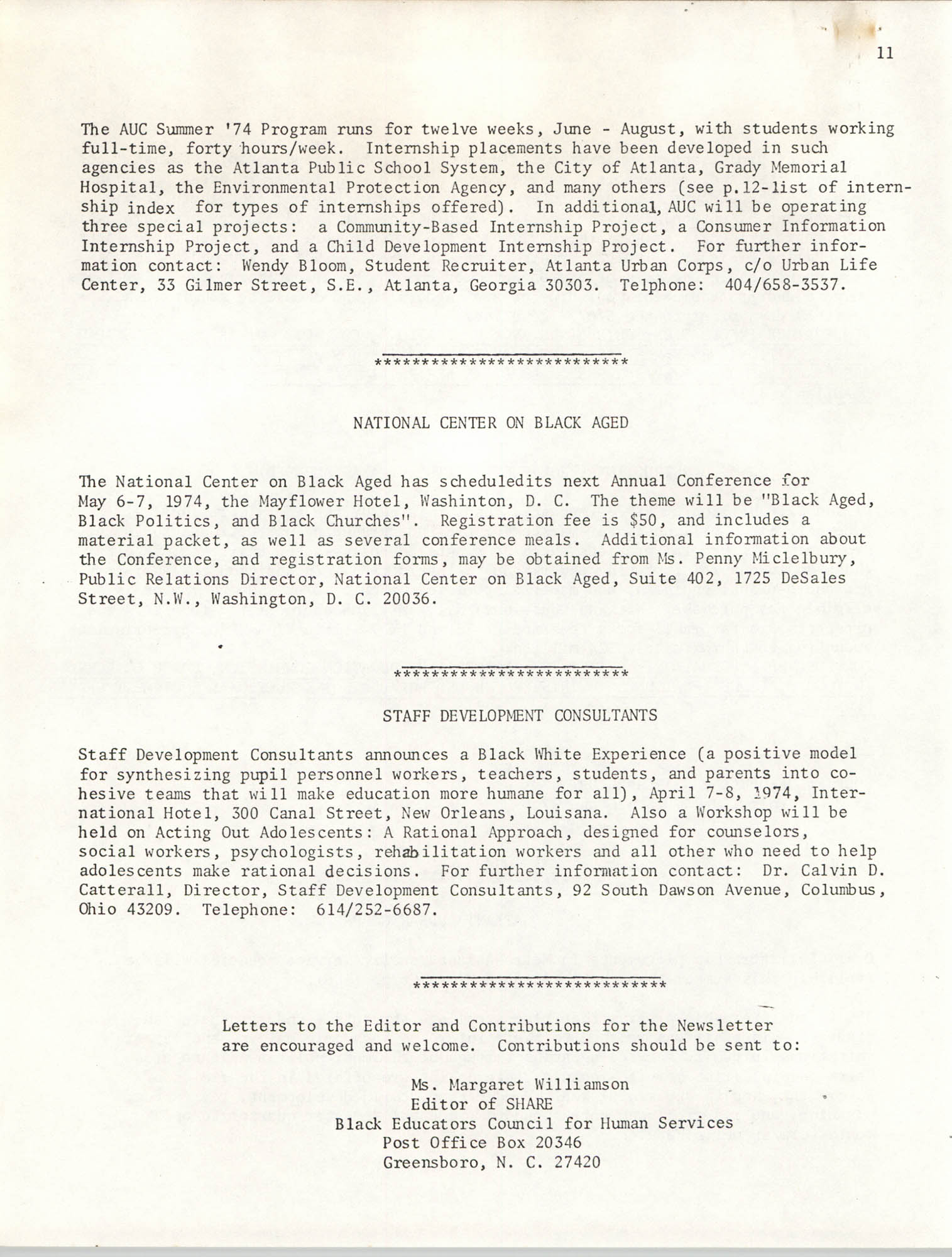 SHARE, Volume II, Number 3, March 1974, Page 11