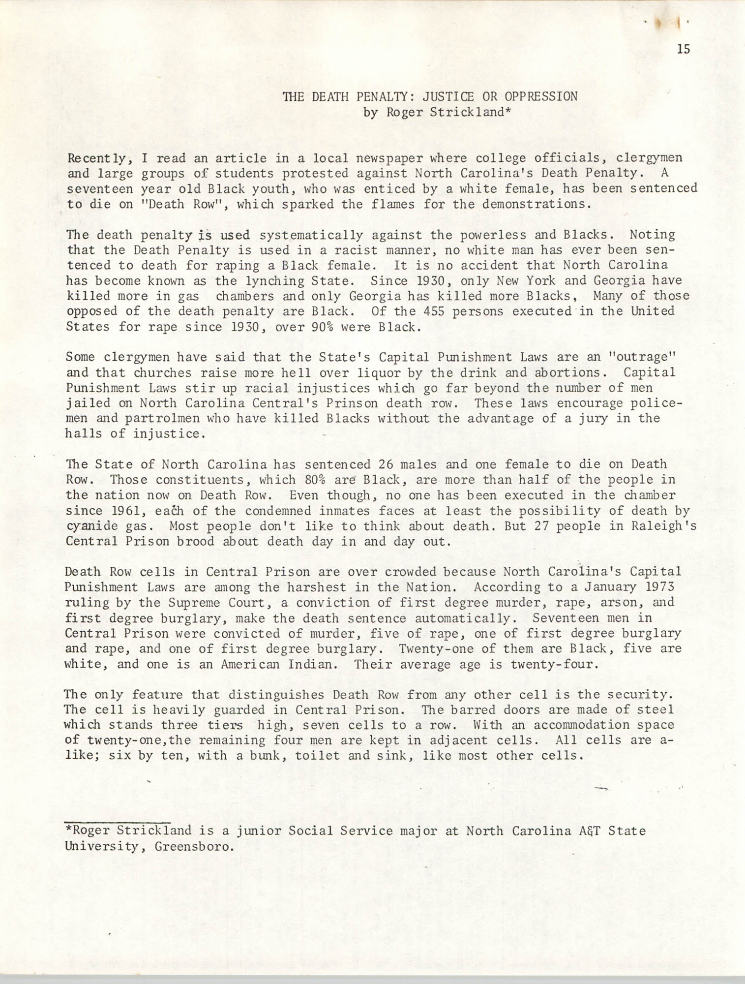 SHARE, Volume II, Number 3, March 1974, Page 15