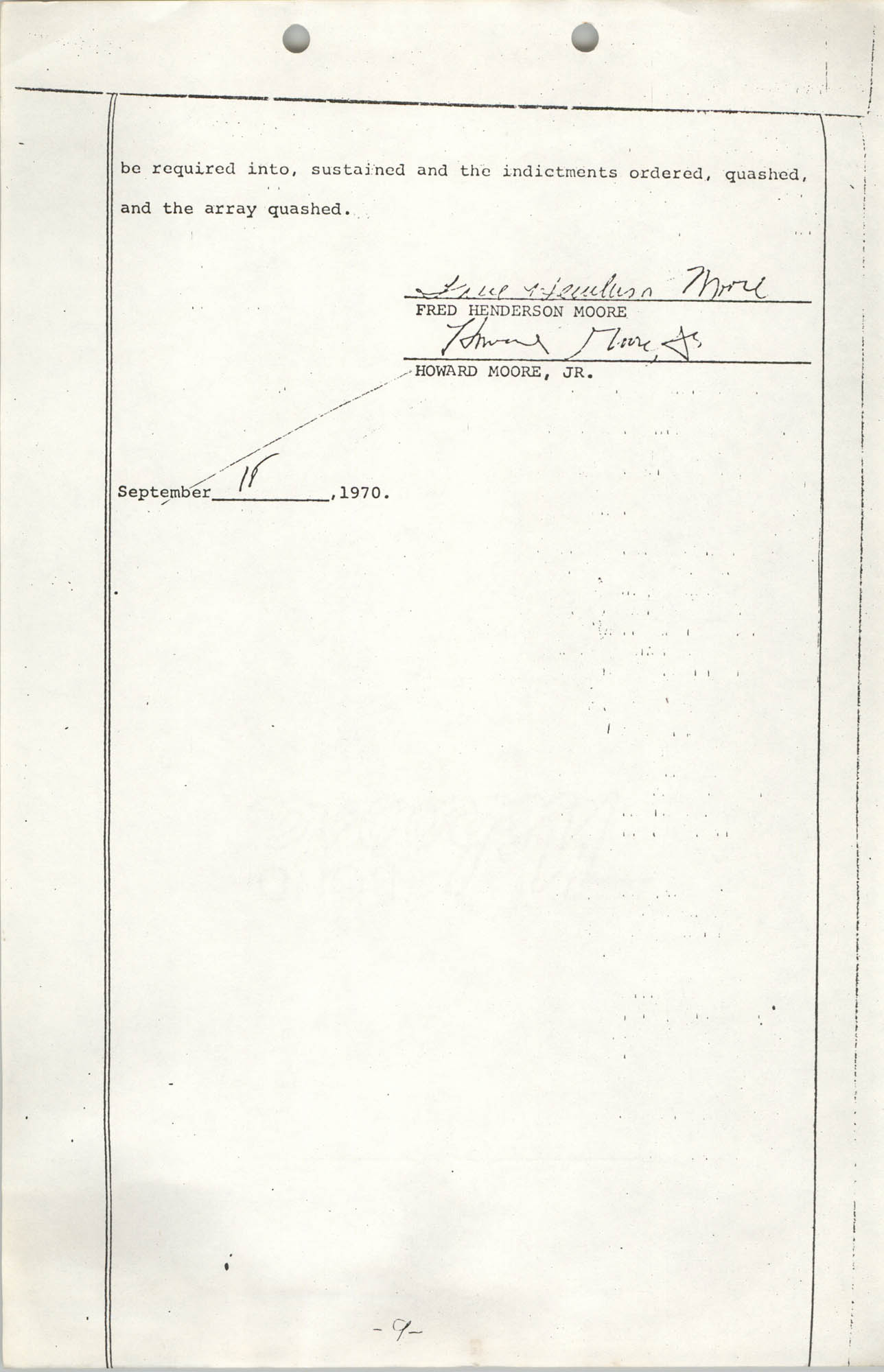 Appeal from Orangeburg County, The State against Cleveland Louis Sellers, Jr., Volume I, Page 9