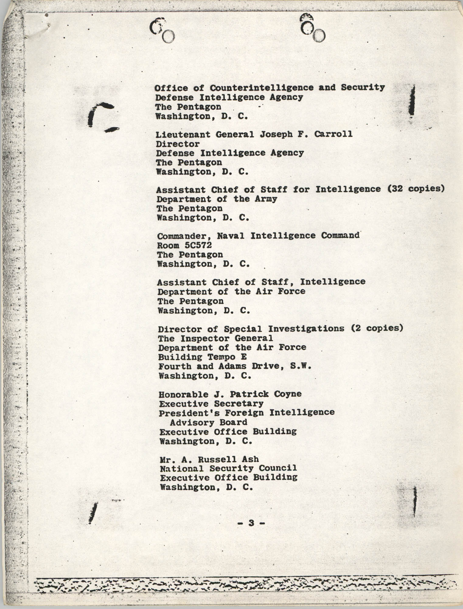 Student Nonviolent Coordinating Committee Lawsuit, Staff List Page 3