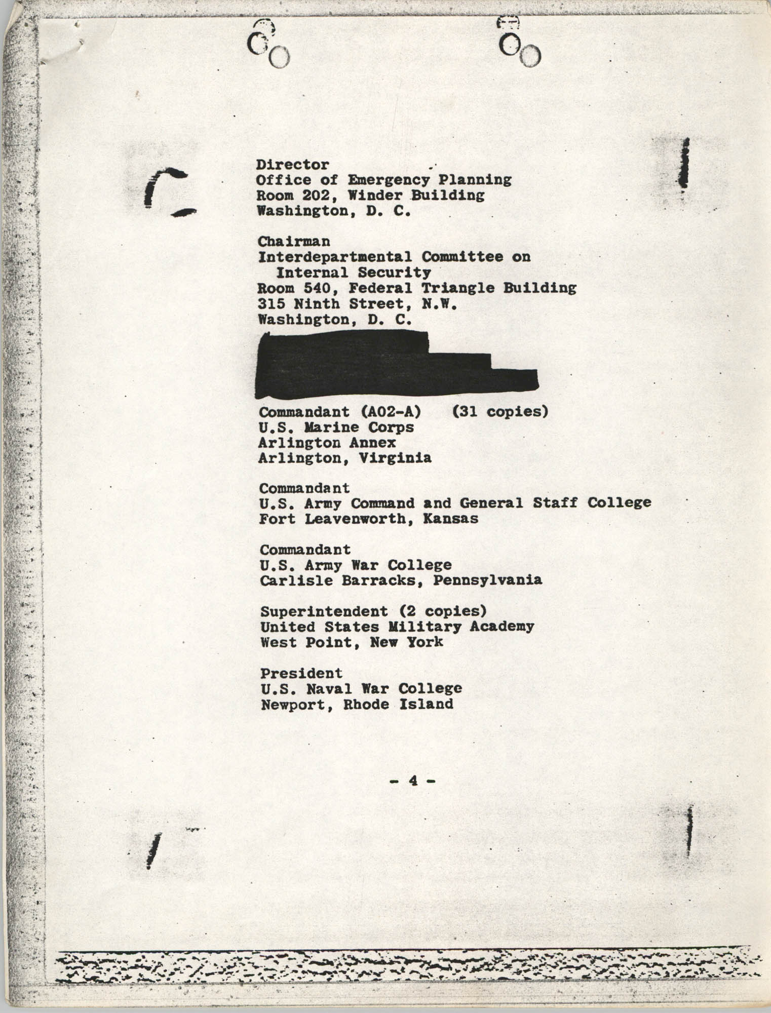 Student Nonviolent Coordinating Committee Lawsuit, Staff List Page 4
