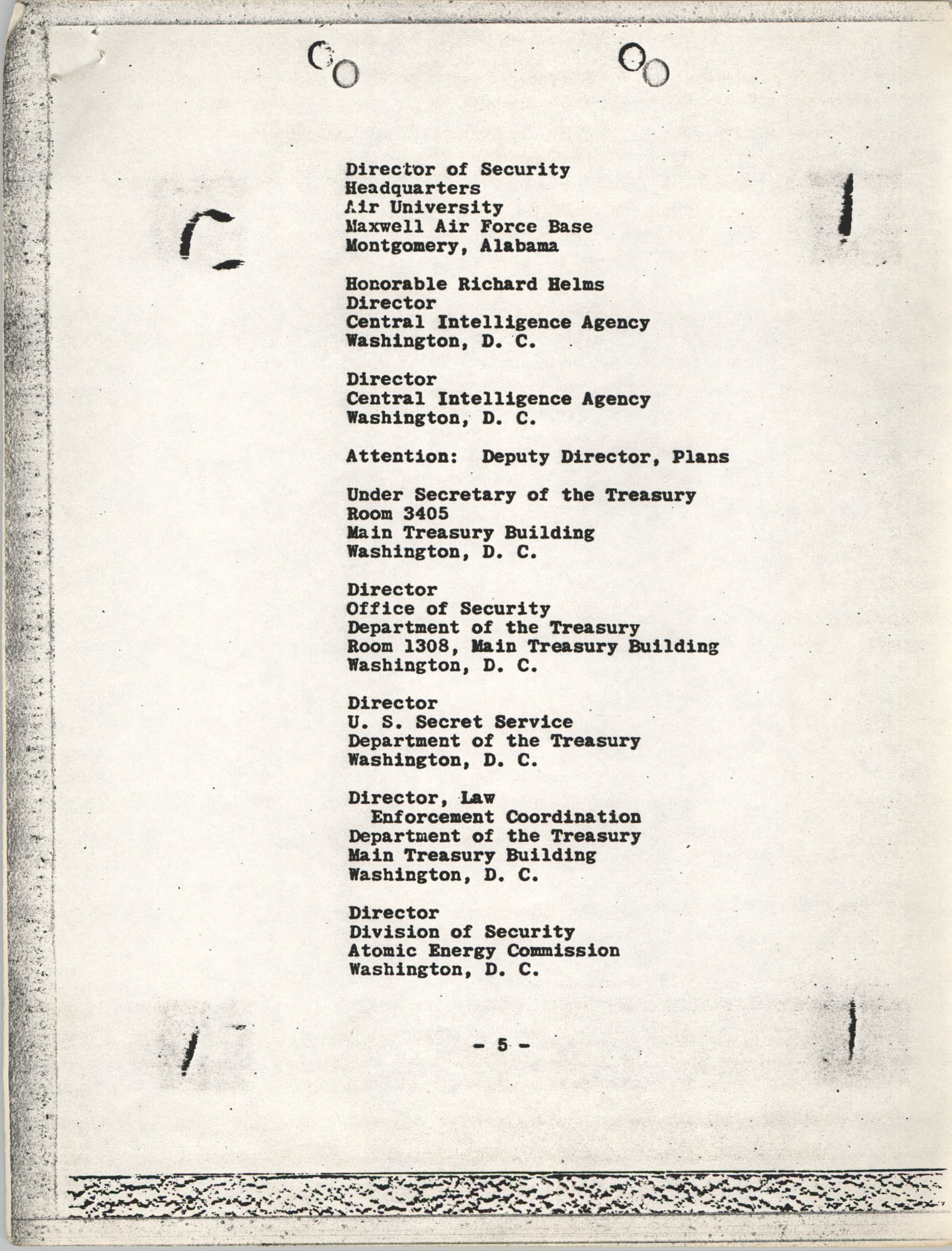 Student Nonviolent Coordinating Committee Lawsuit, Staff List Page 5