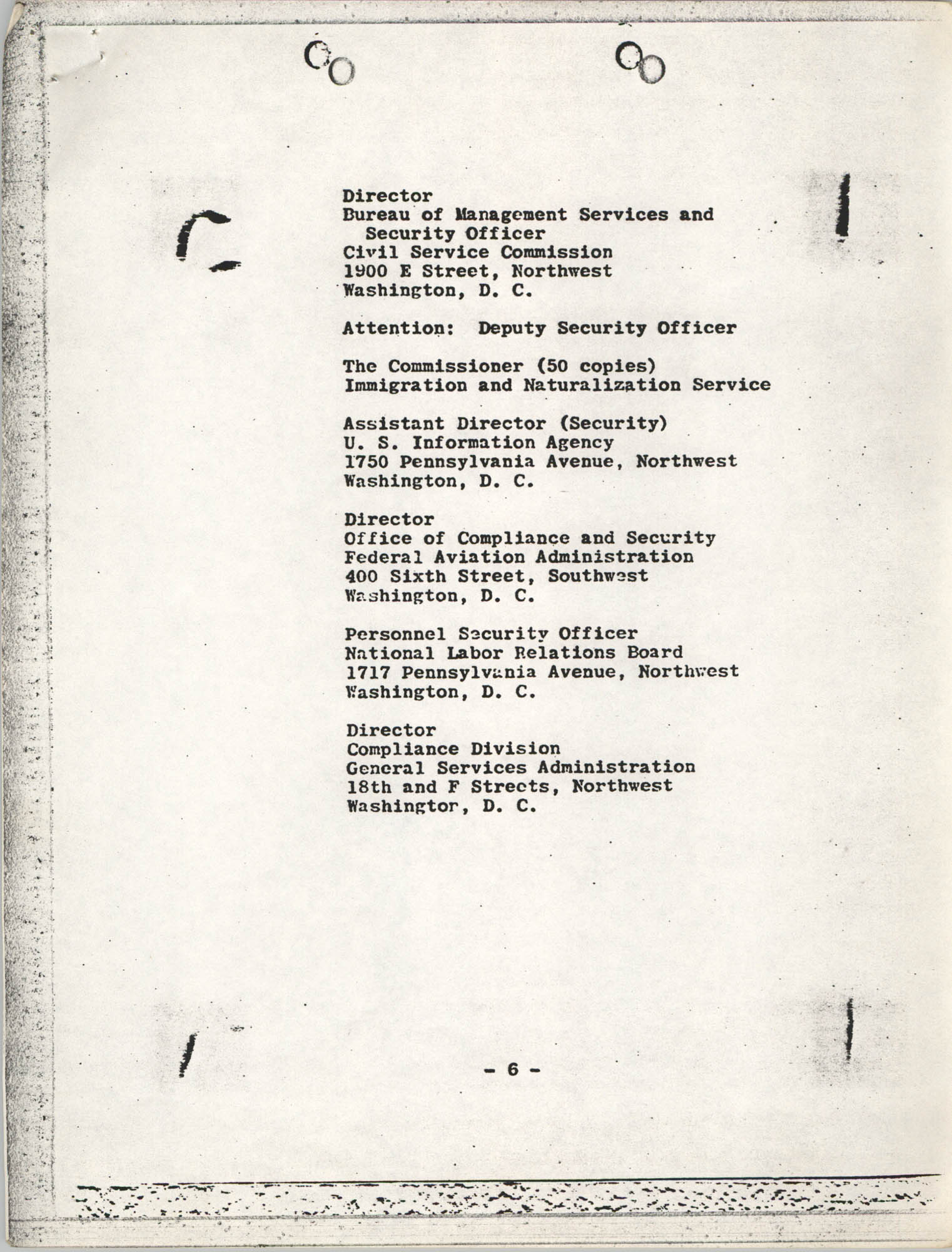 Student Nonviolent Coordinating Committee Lawsuit, Staff List Page 6