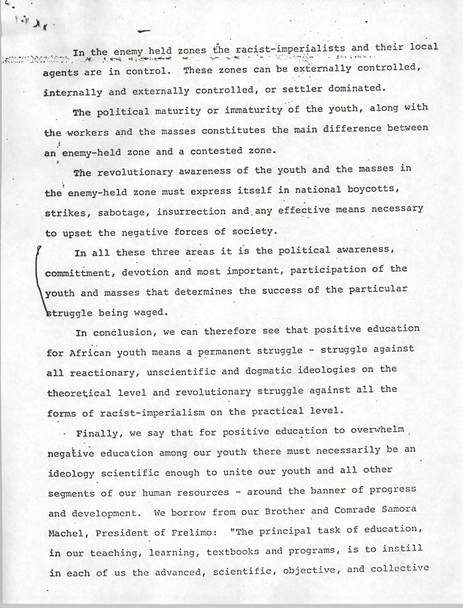 All-African People's Revolutionary Party: Youth and Political Education, Page 10