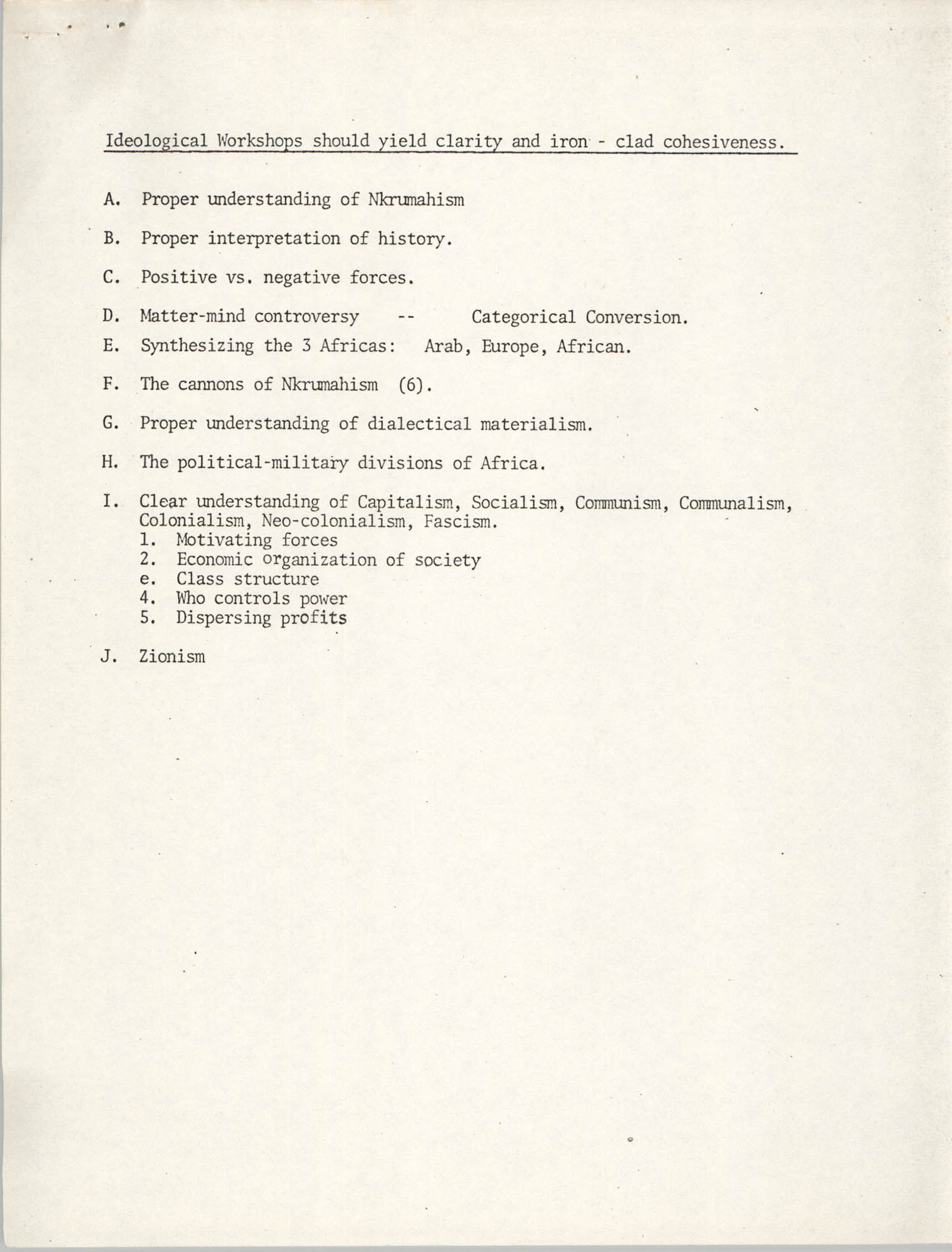 First Planning Committee Meeting, Southeastern Regional Planning Committee, Page G.2