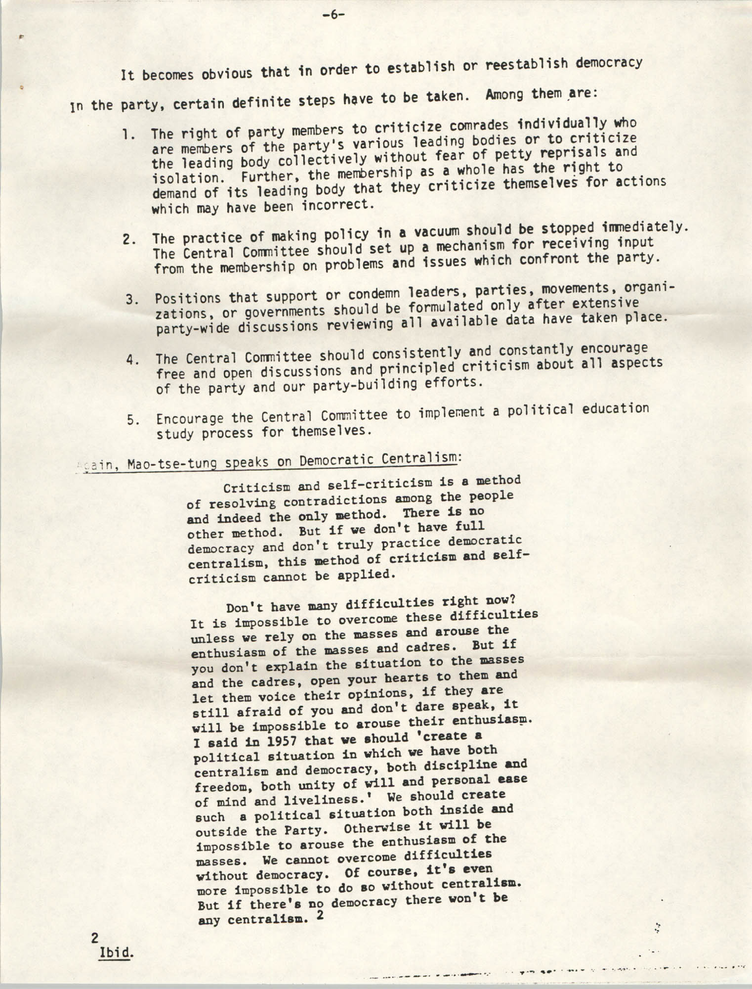 All African People's Revolutionary Party Memorandum, 1978, Page 6