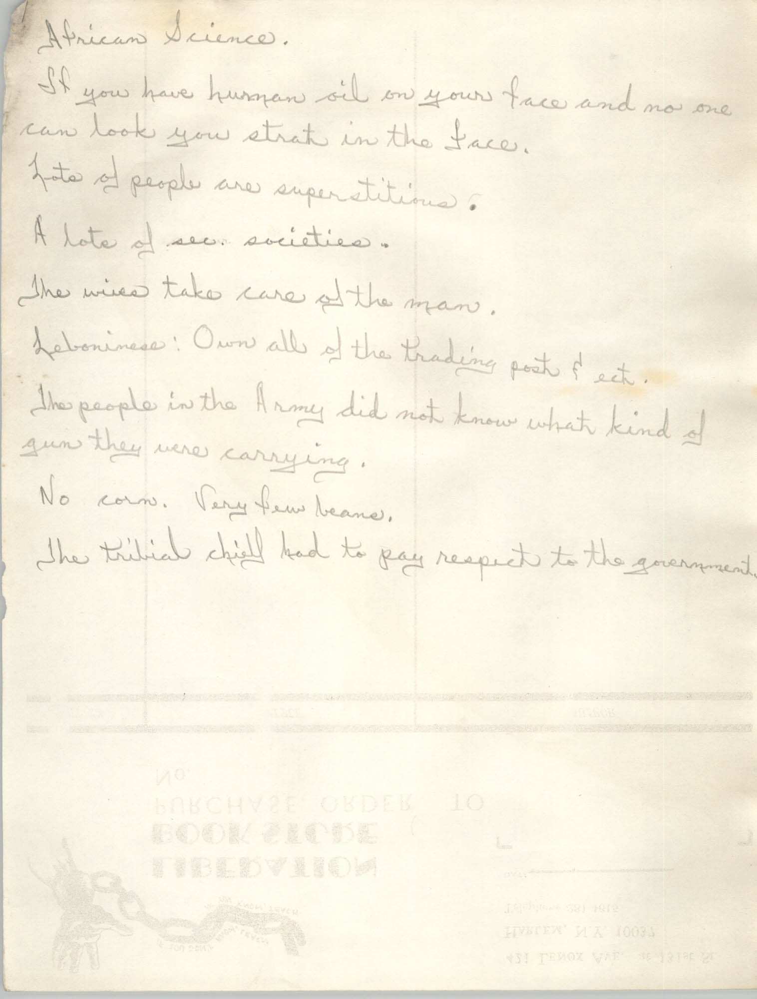 All African People's Revolutionary Party Handwritten Notes, Page 12