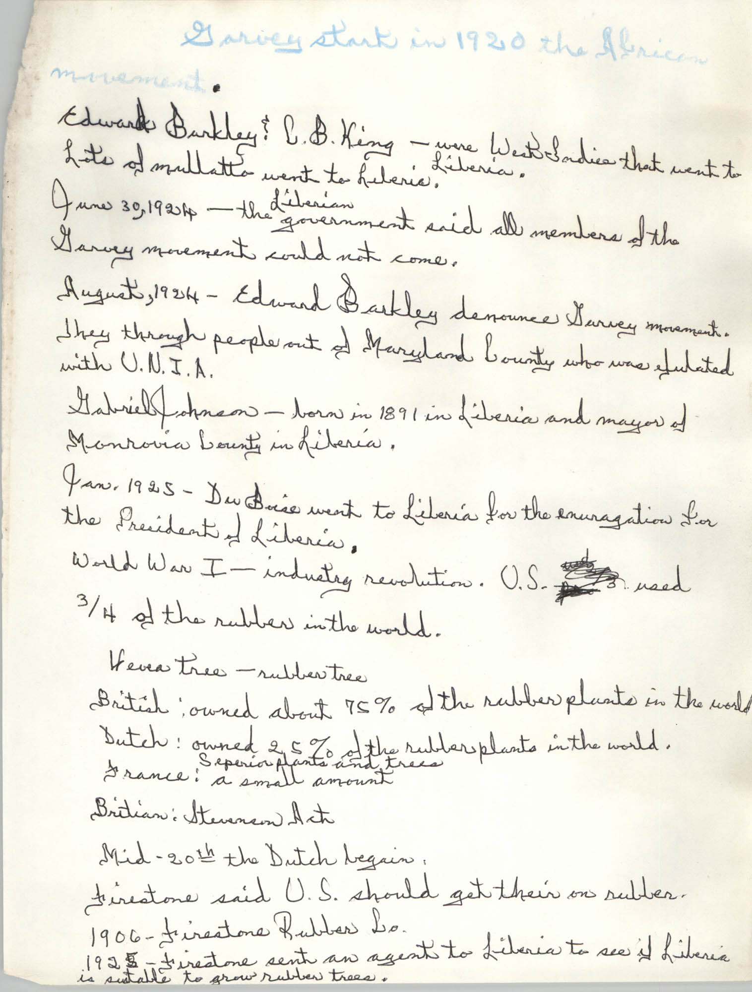 All African People's Revolutionary Party Handwritten Notes, Page 14