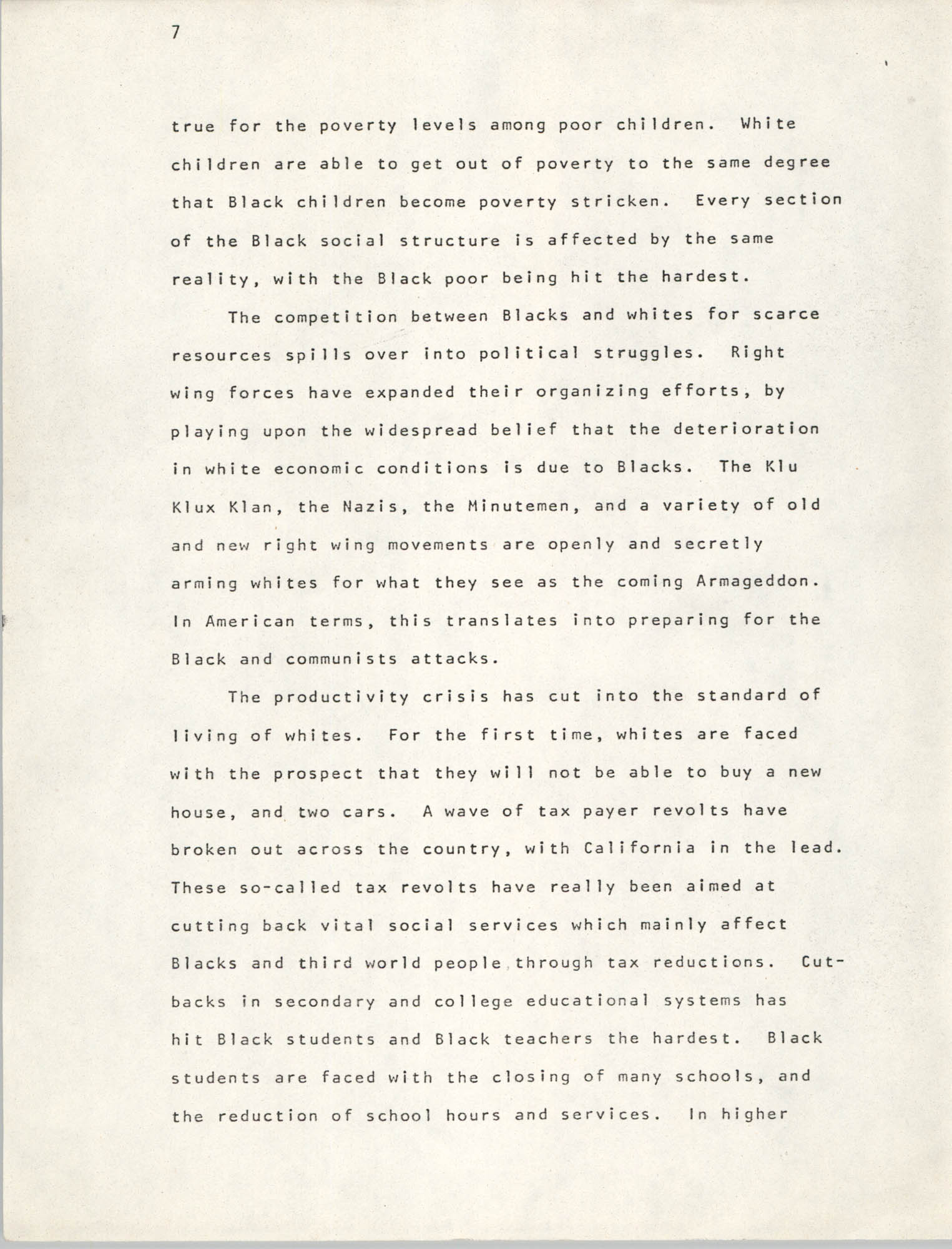 Pan-African Committee of the Black United Front, Page 7