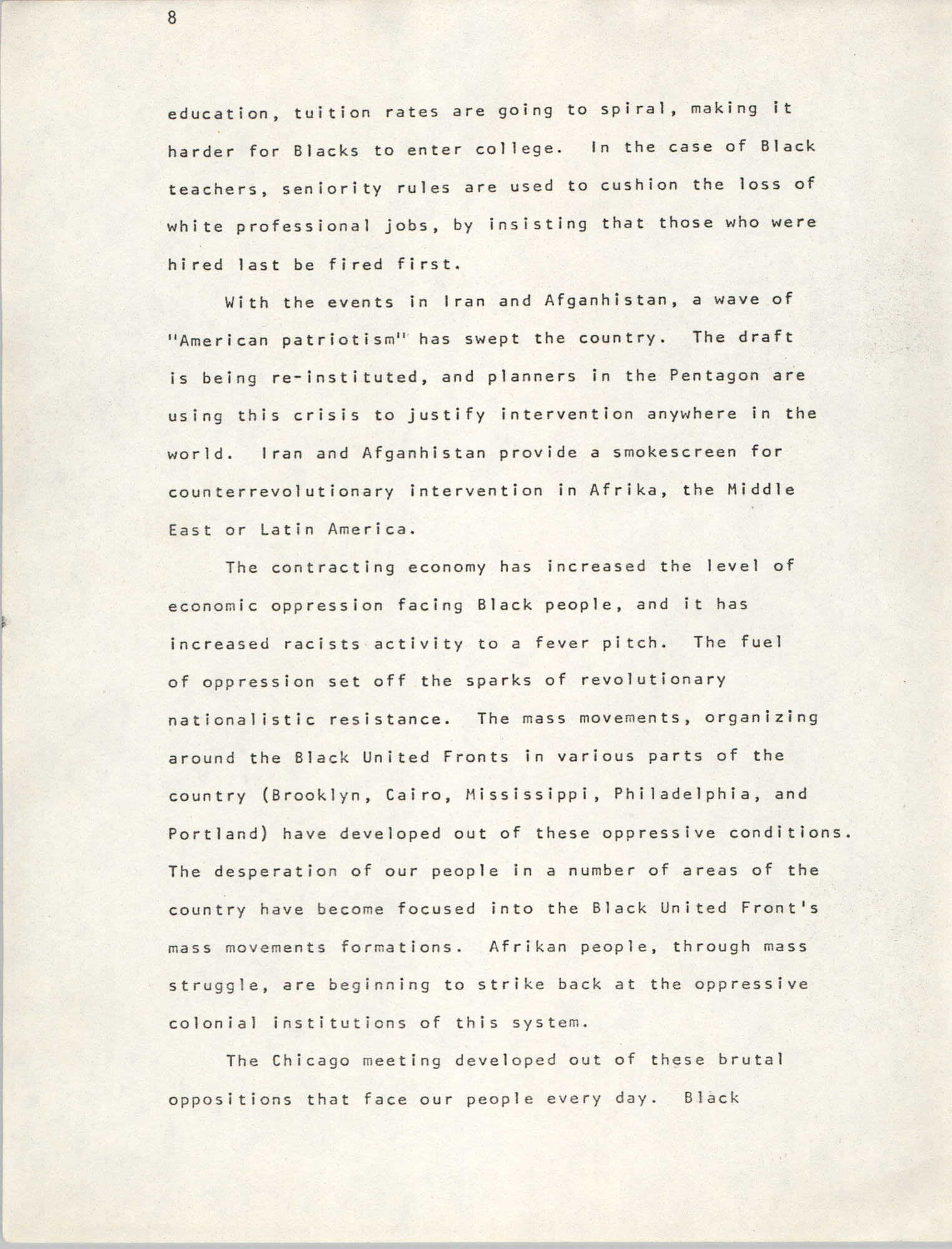 Pan-African Committee of the Black United Front, Page 8