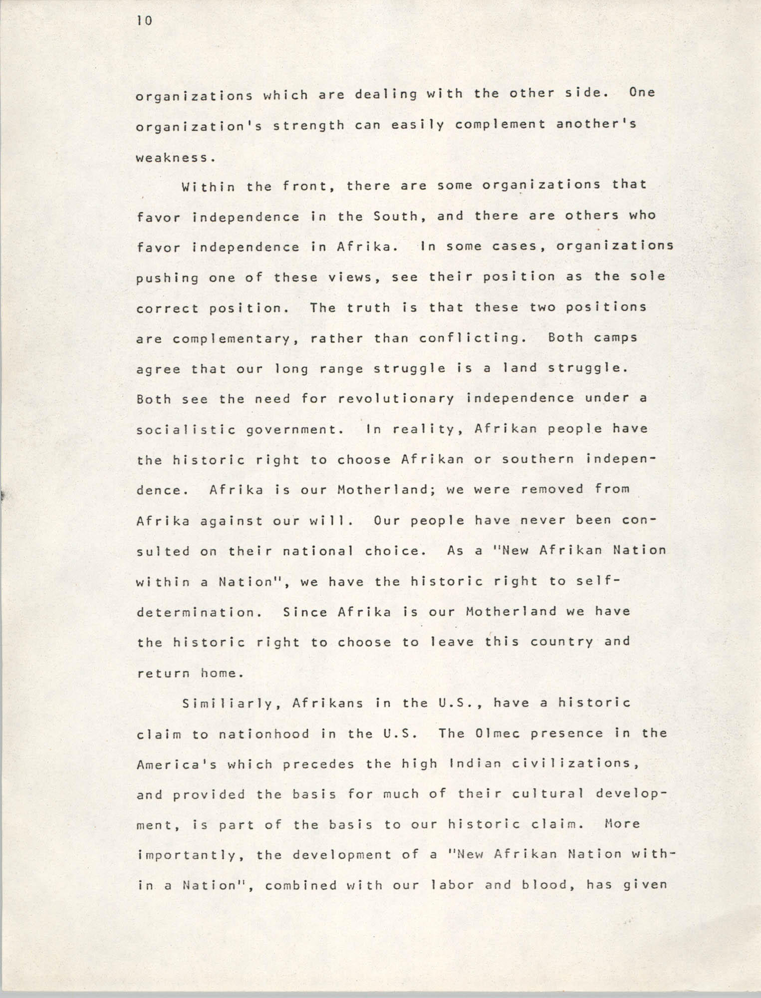 Pan-African Committee of the Black United Front, Page 10