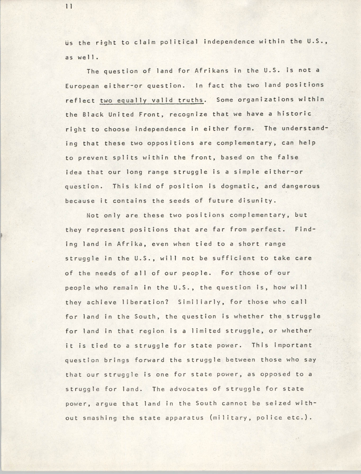 Pan-African Committee of the Black United Front, Page 11