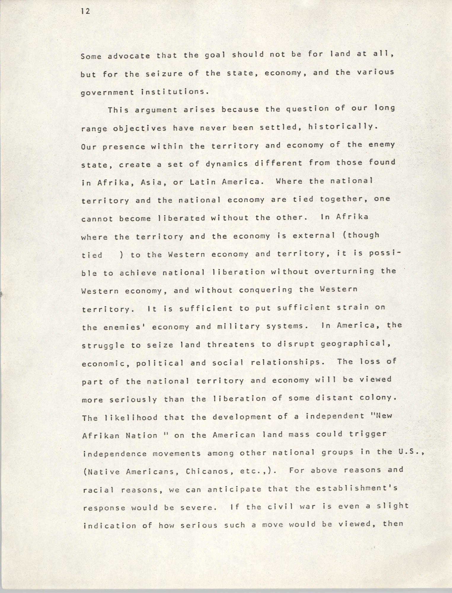 Pan-African Committee of the Black United Front, Page 12
