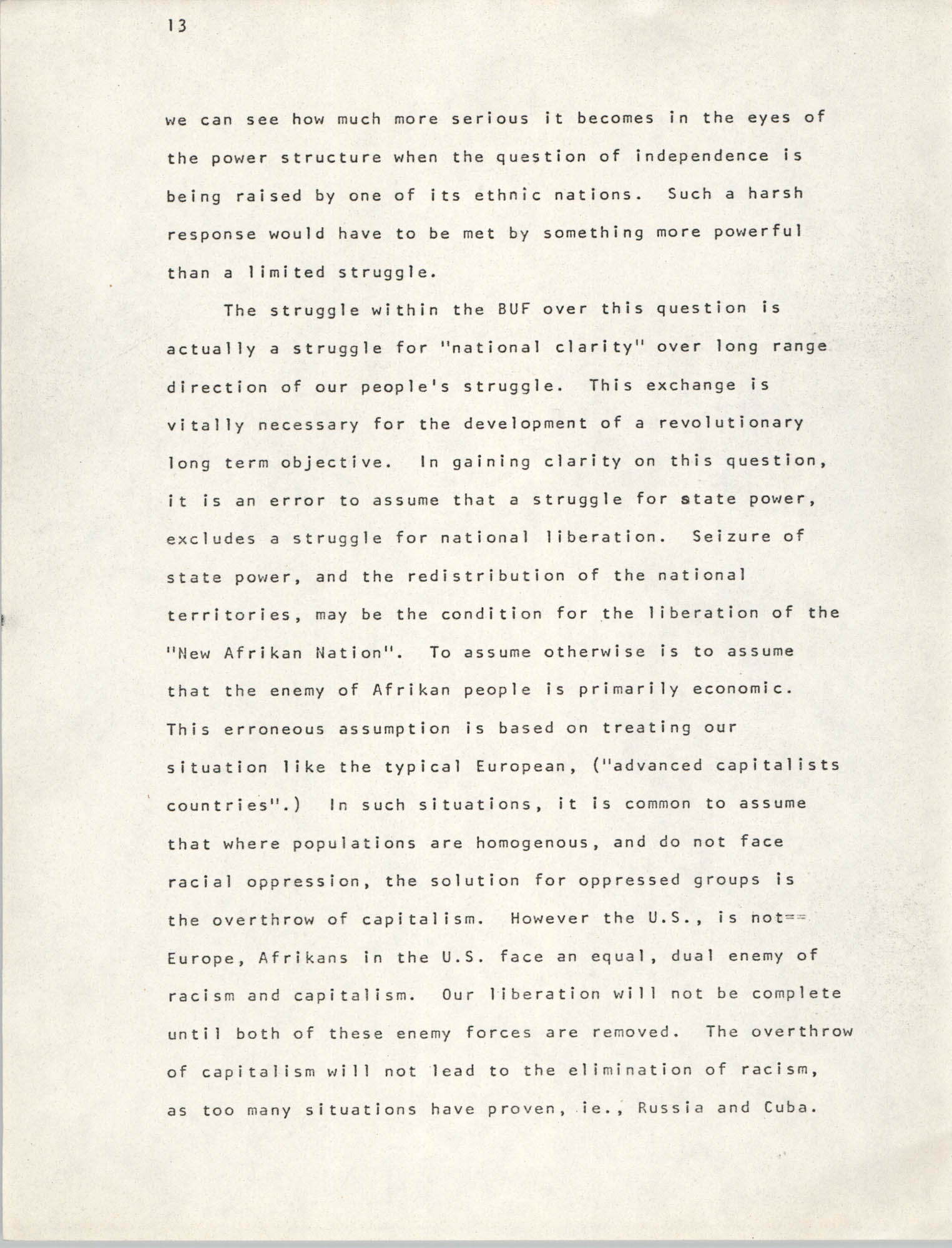 Pan-African Committee of the Black United Front, Page 13