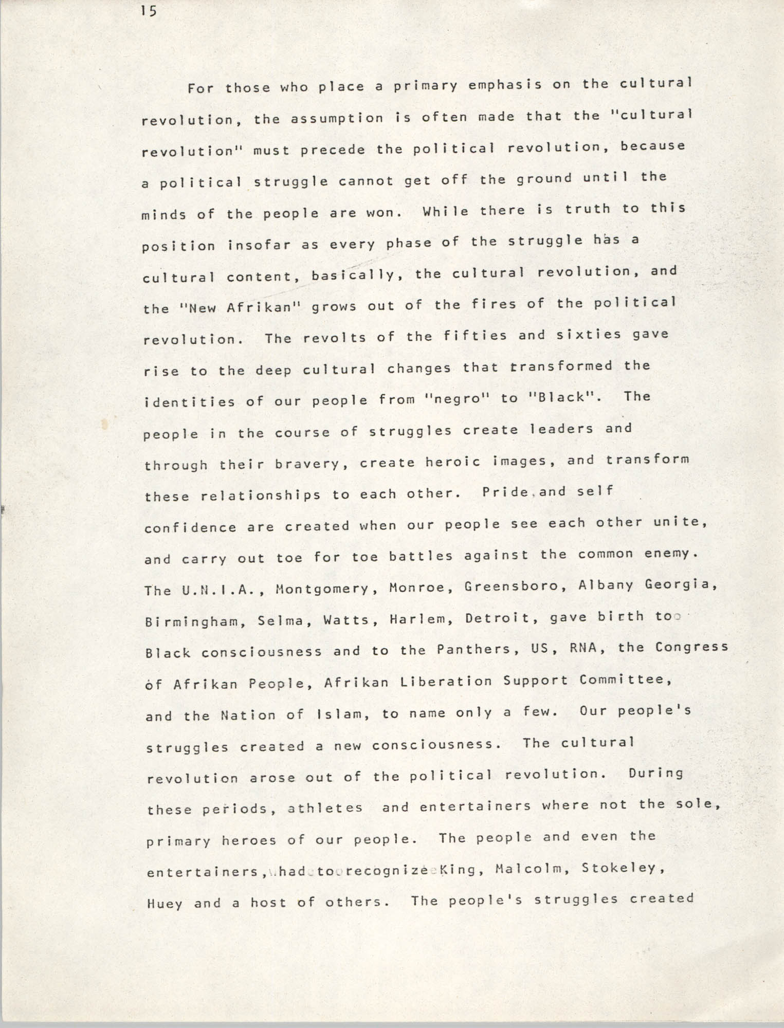 Pan-African Committee of the Black United Front, Page 15
