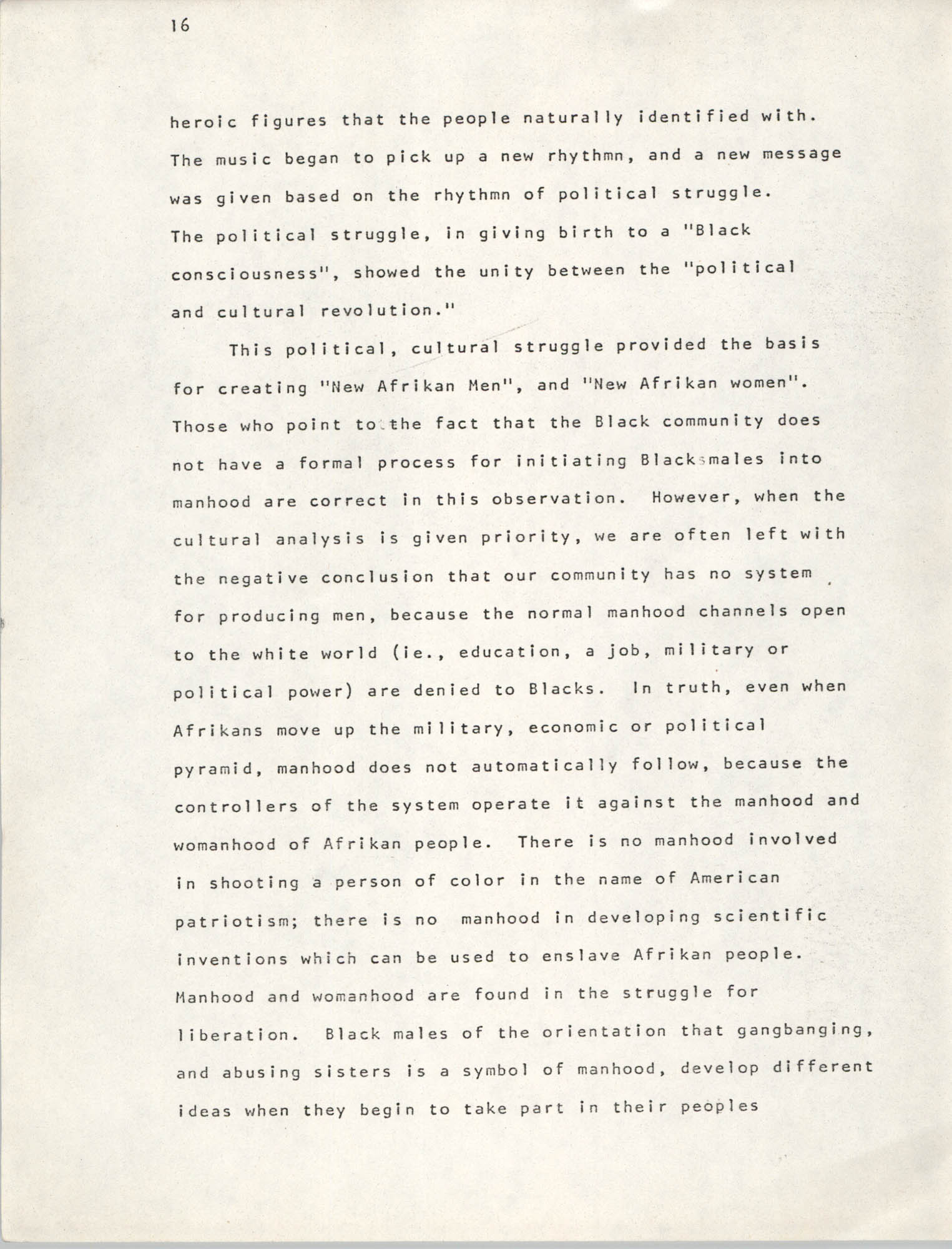 Pan-African Committee of the Black United Front, Page 16