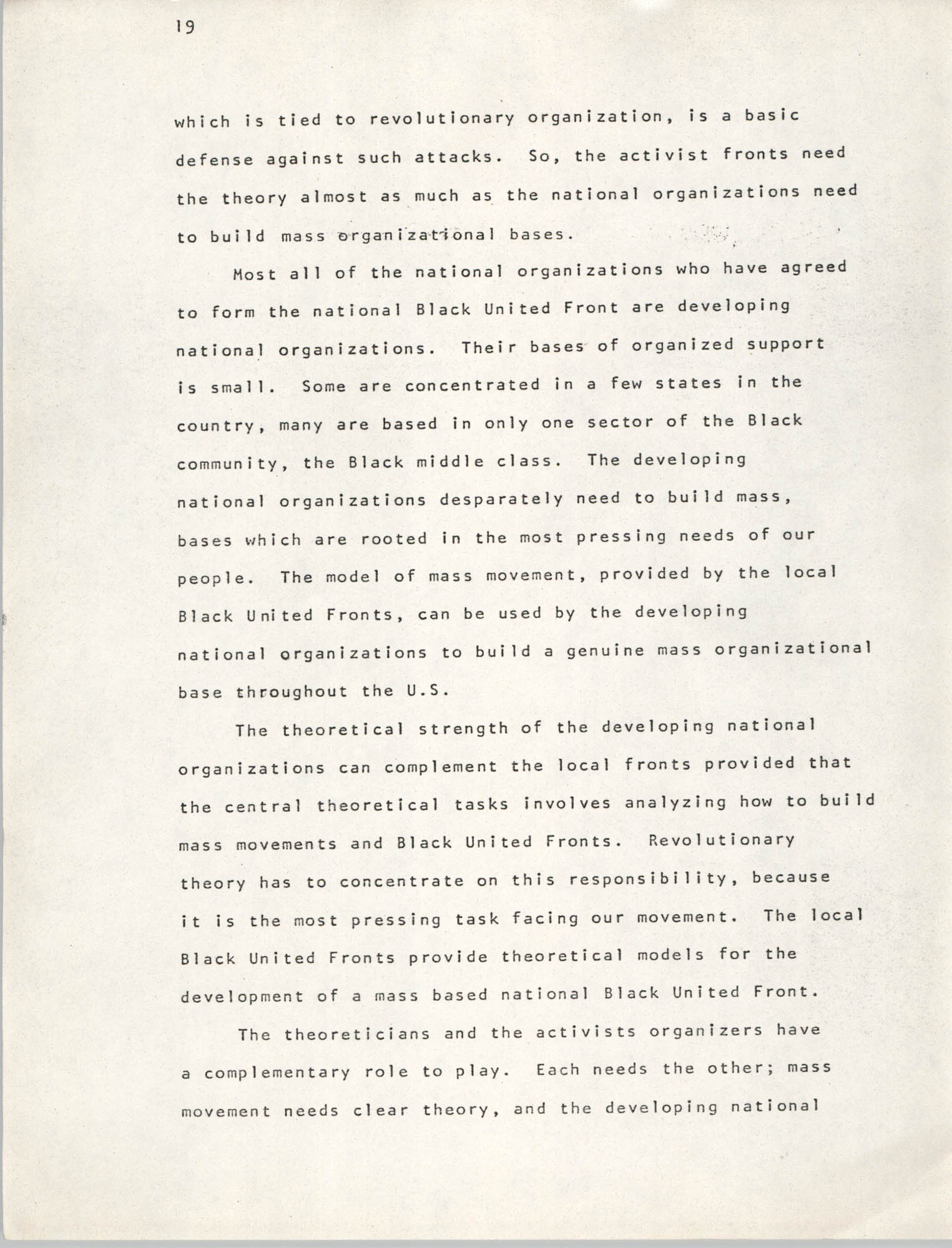 Pan-African Committee of the Black United Front, Page 19