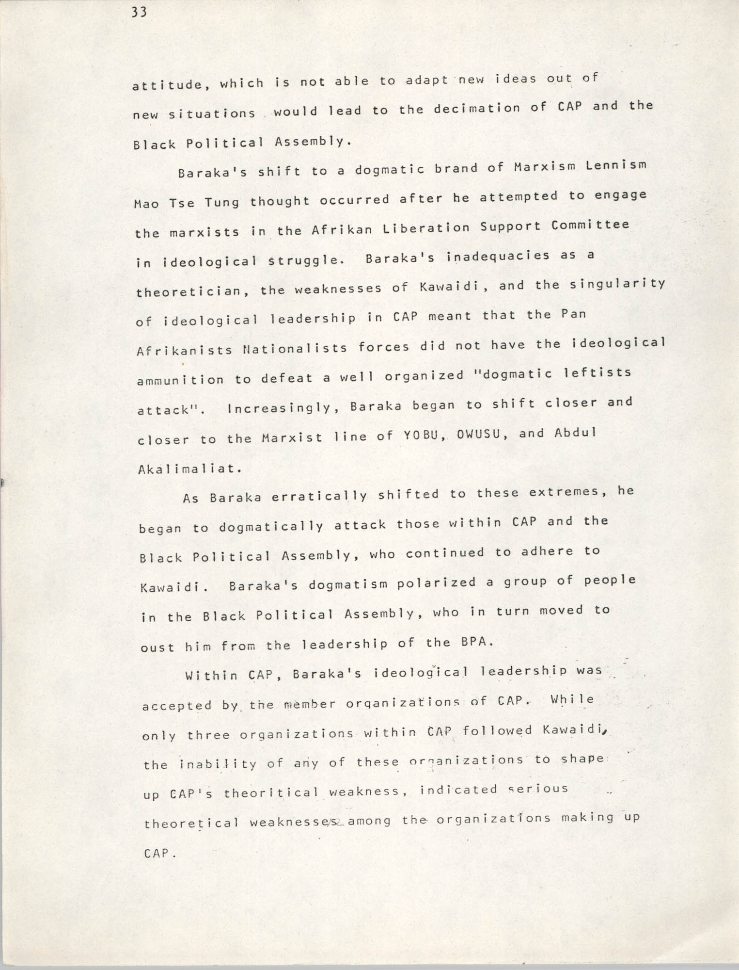 Pan-African Committee of the Black United Front, Page 33