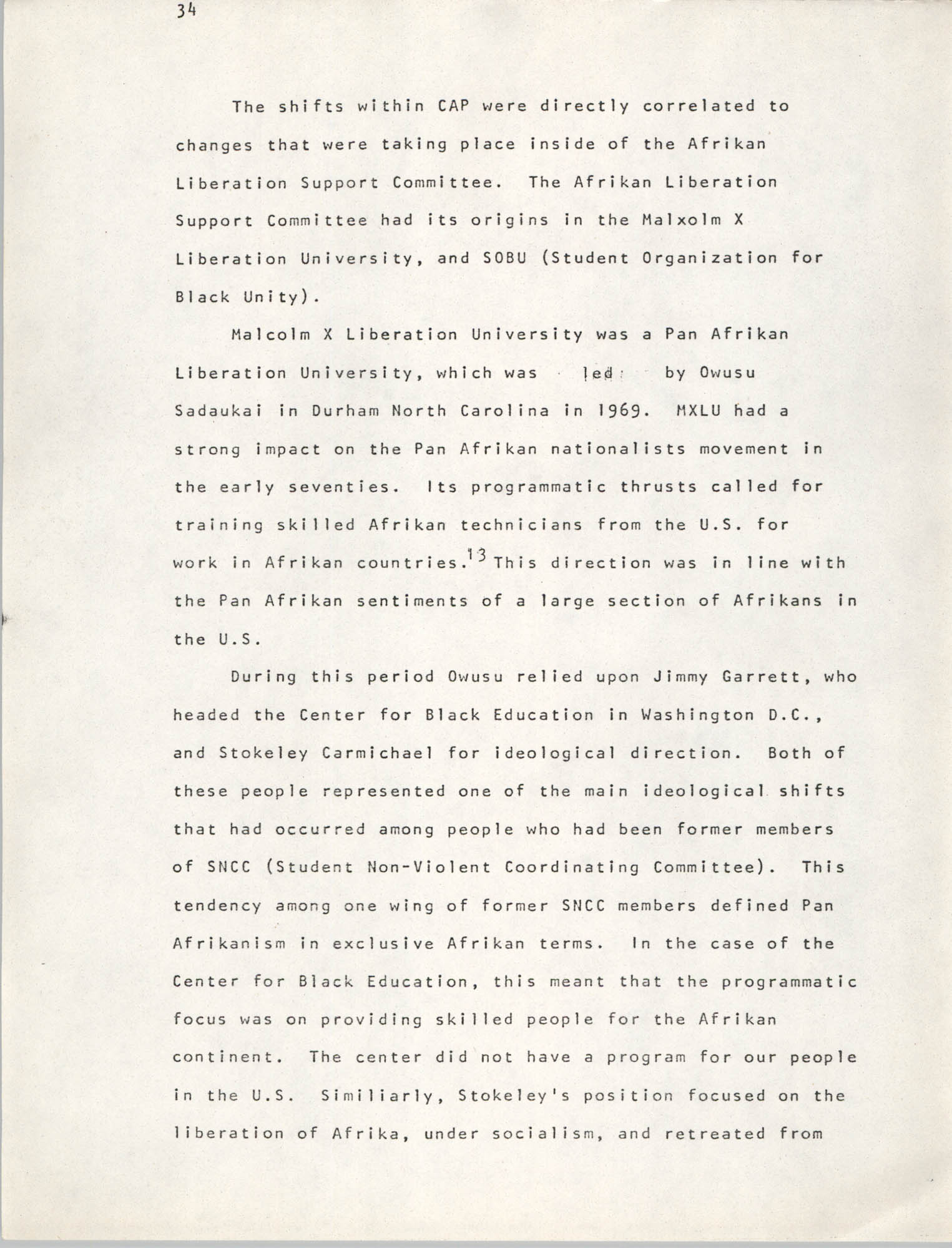 Pan-African Committee of the Black United Front, Page 34