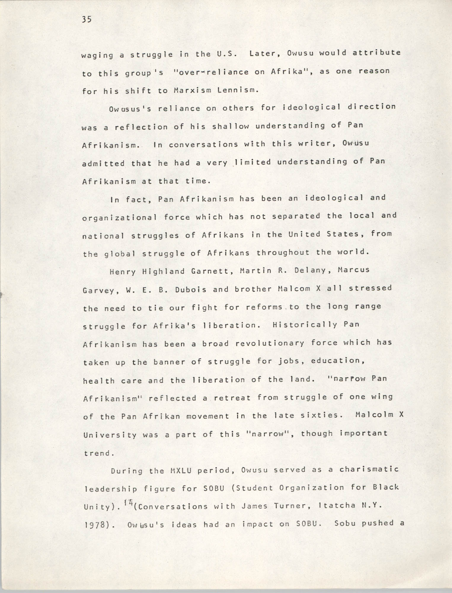 Pan-African Committee of the Black United Front, Page 35
