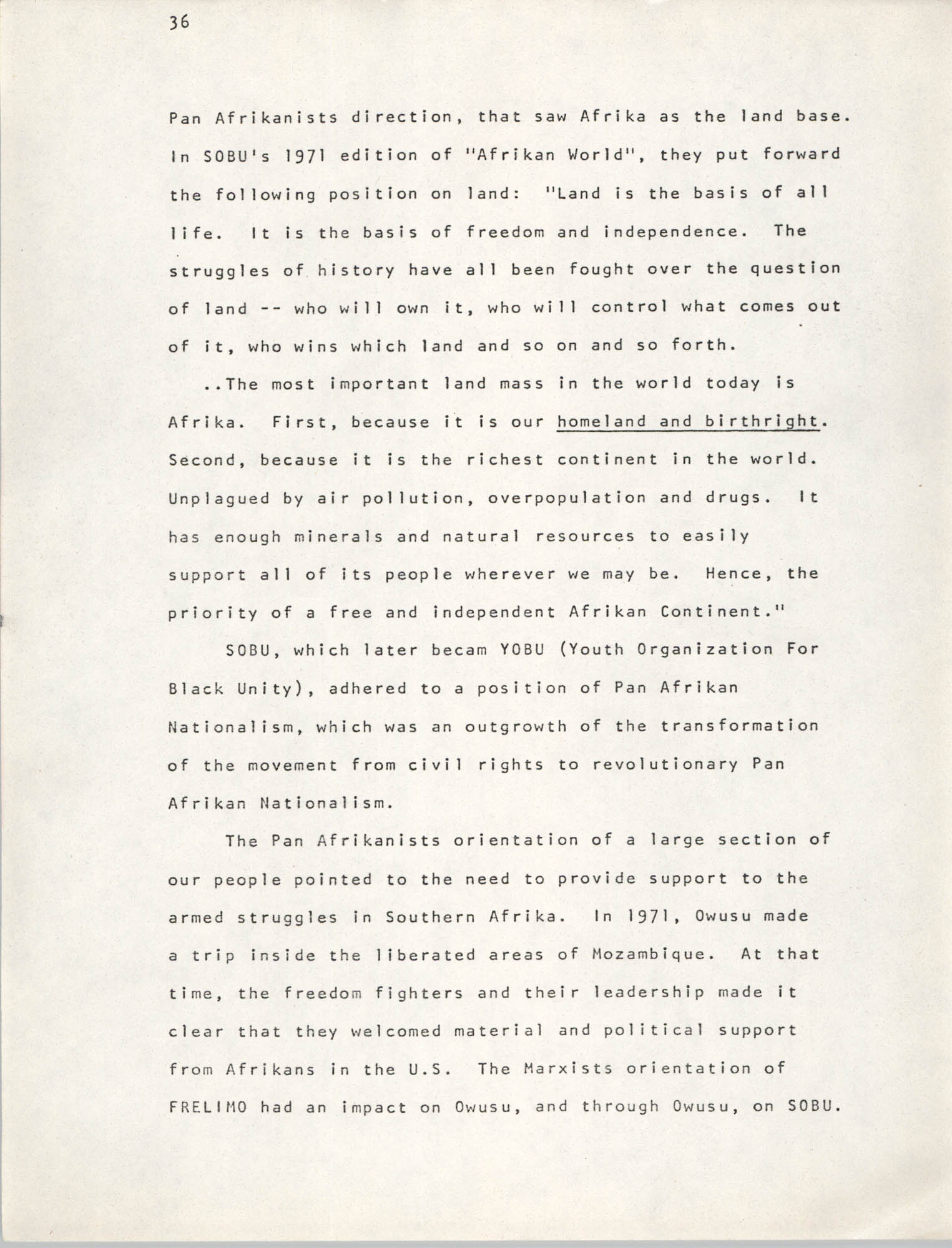Pan-African Committee of the Black United Front, Page 36