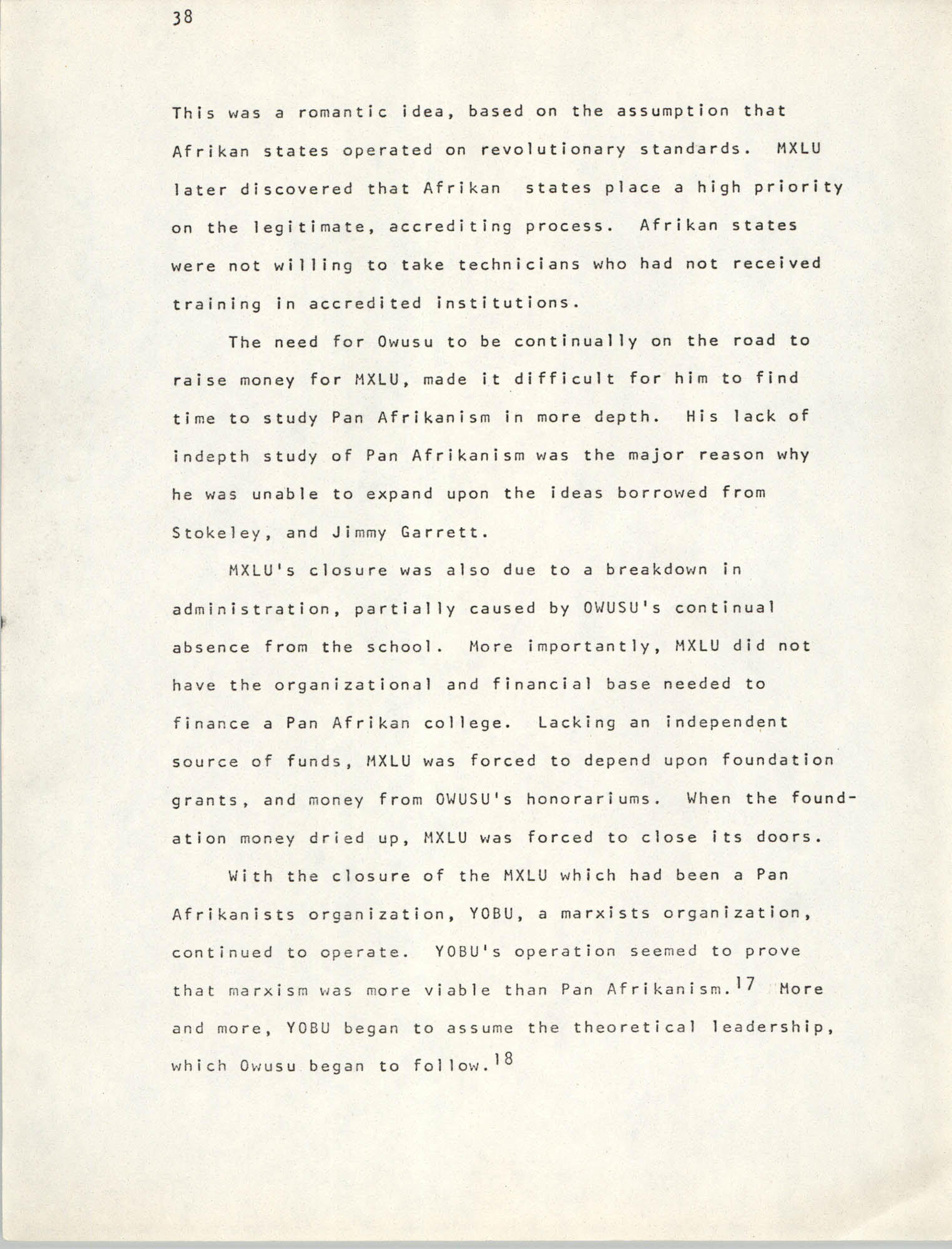 Pan-African Committee of the Black United Front, Page 38