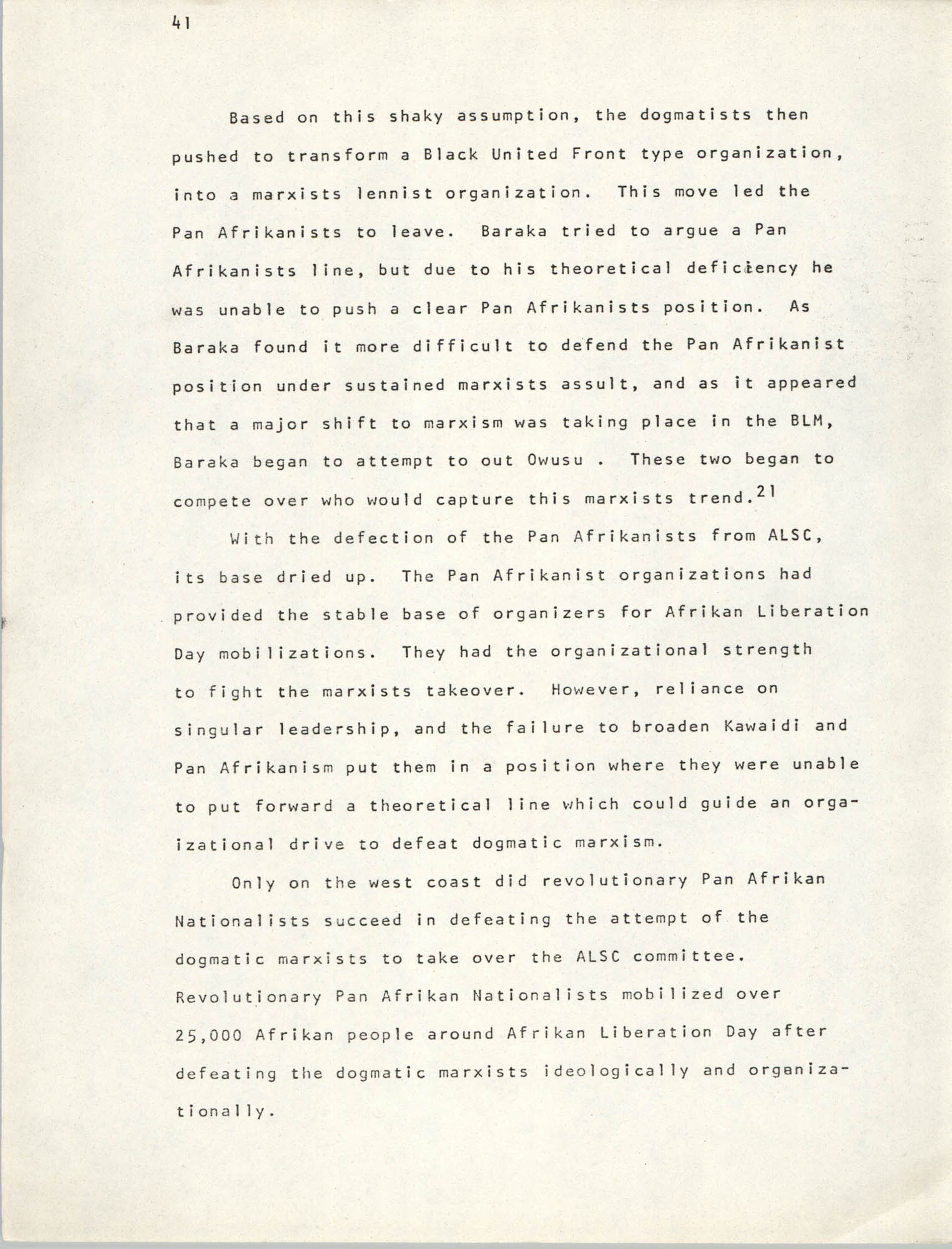 Pan-African Committee of the Black United Front, Page 41