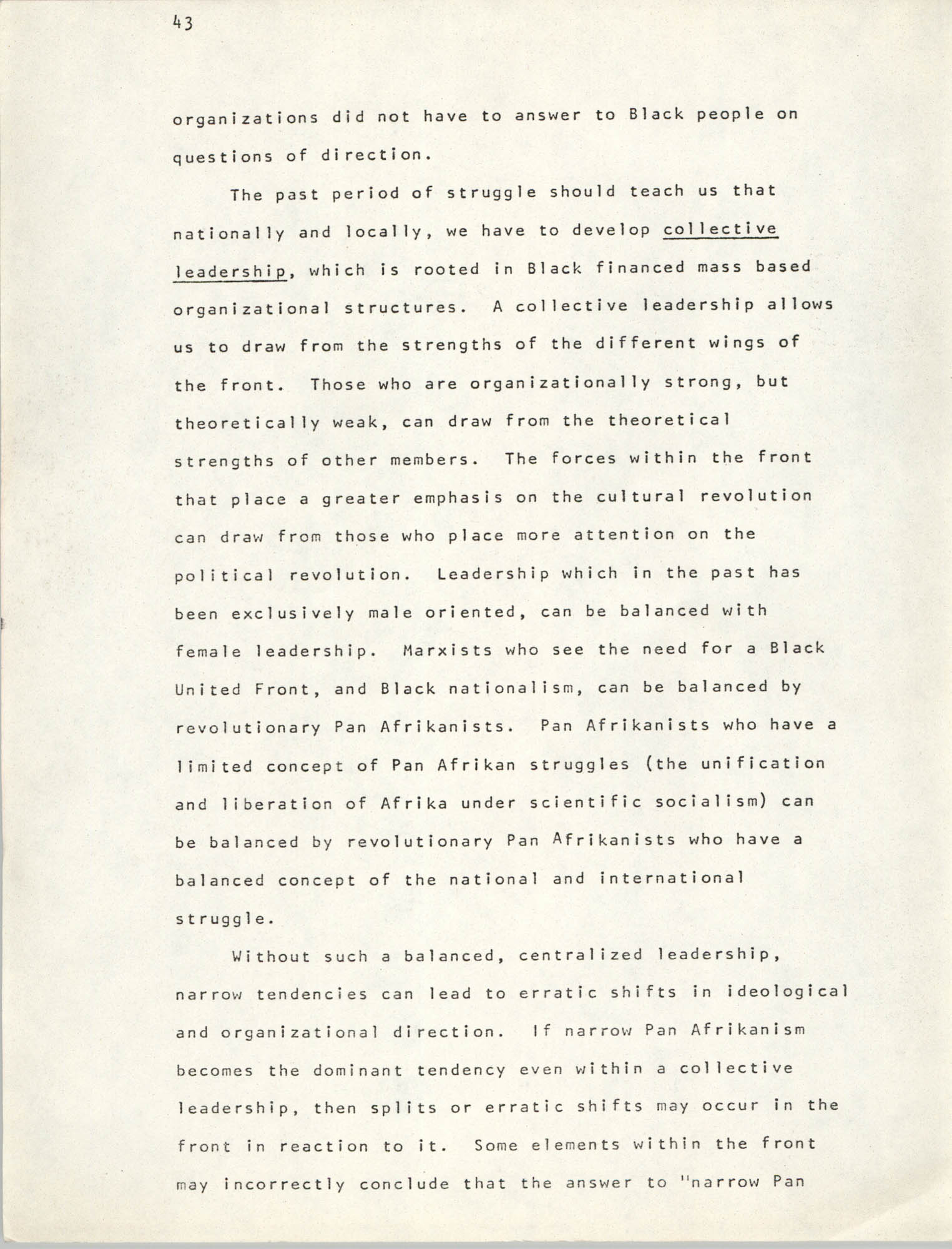 Pan-African Committee of the Black United Front, Page 43