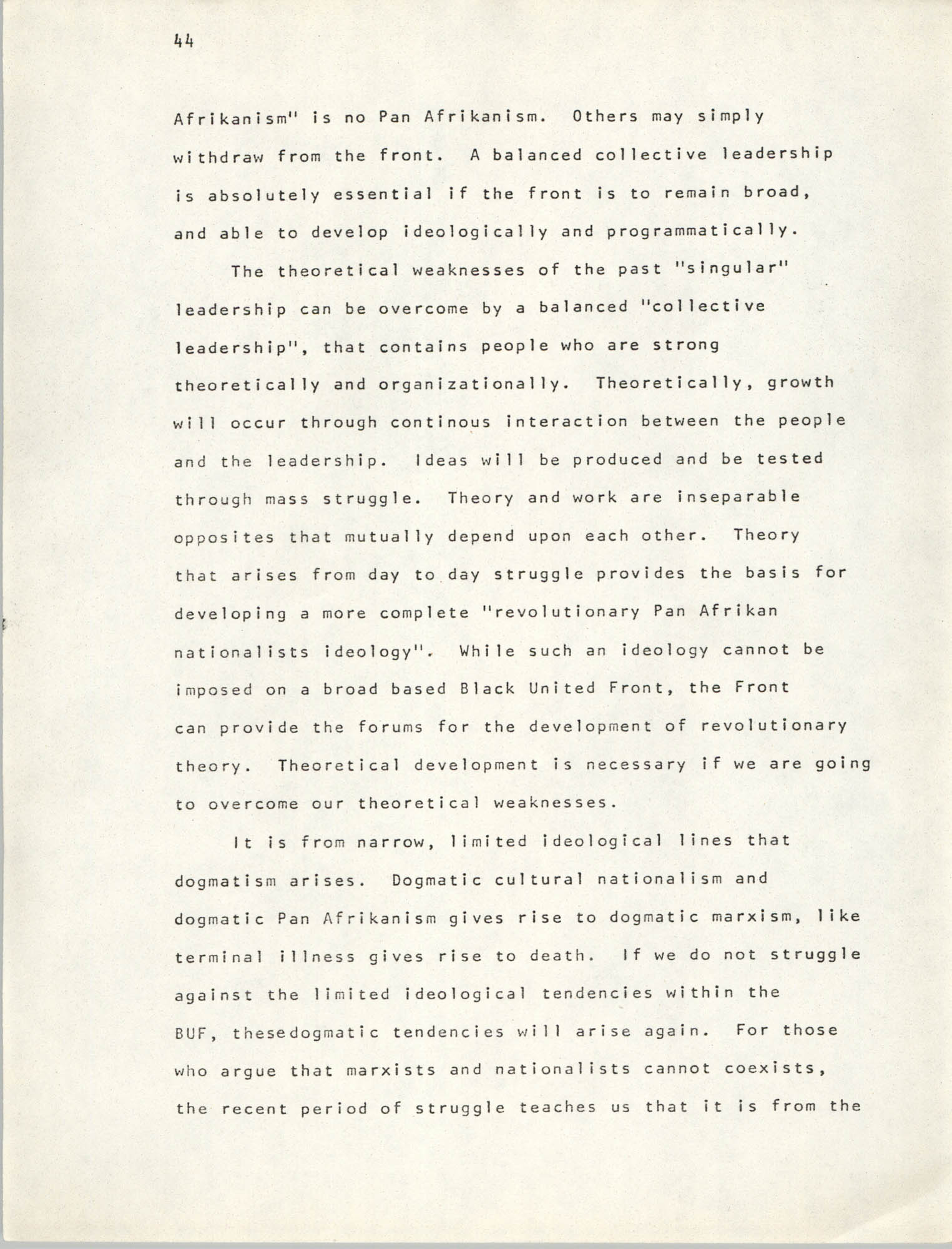 Pan-African Committee of the Black United Front, Page 44