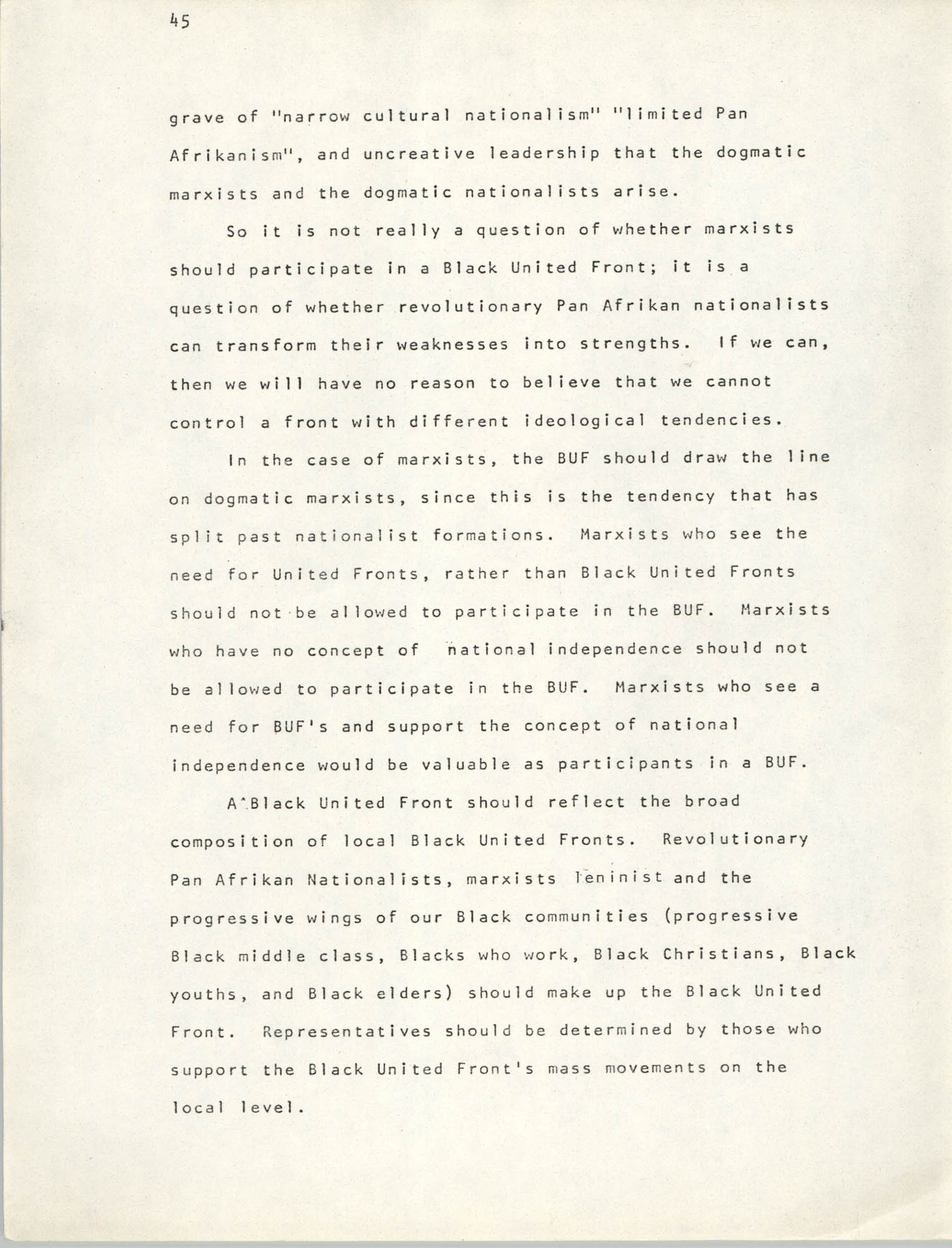 Pan-African Committee of the Black United Front, Page 45