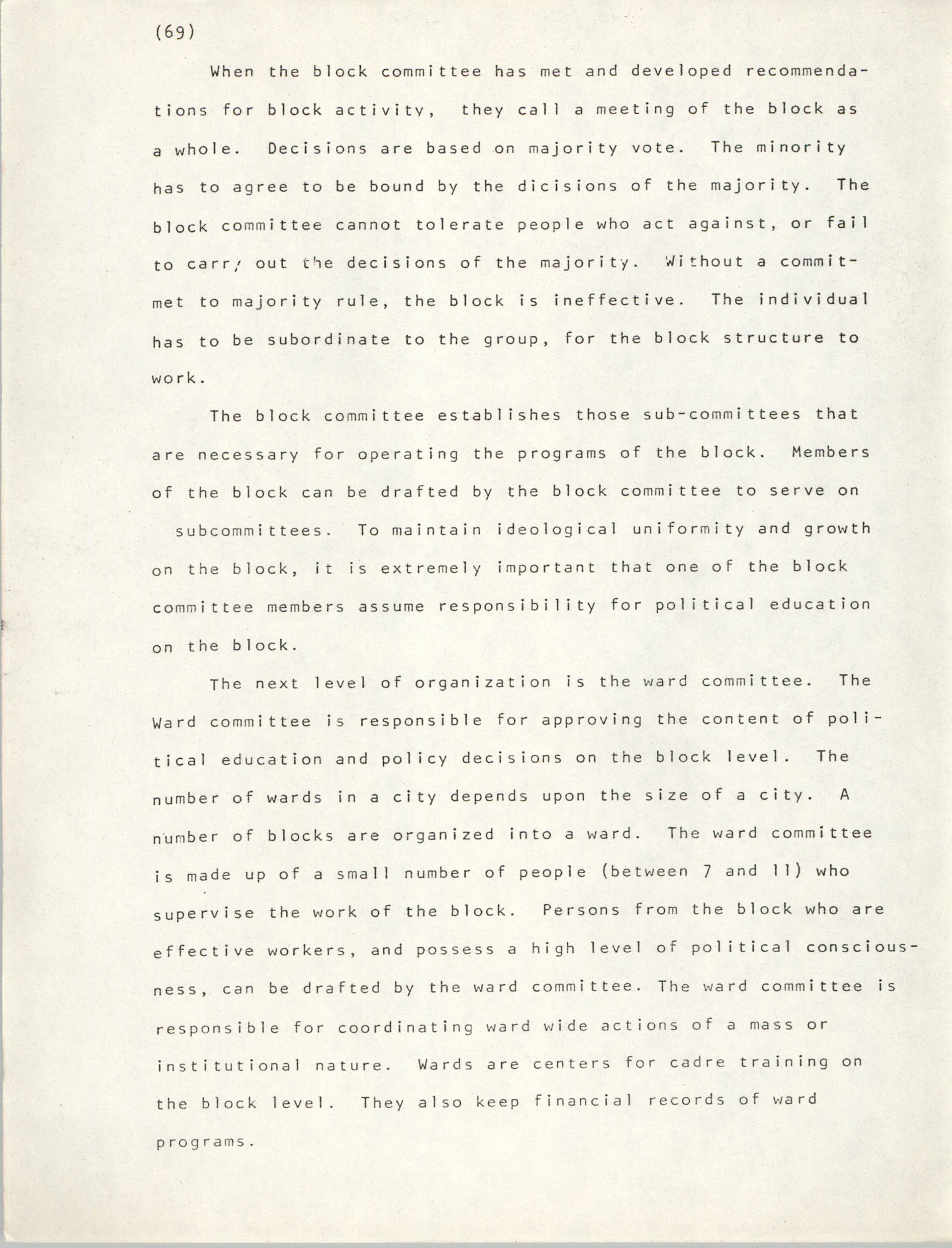 Pan-African Committee of the Black United Front, Page 69