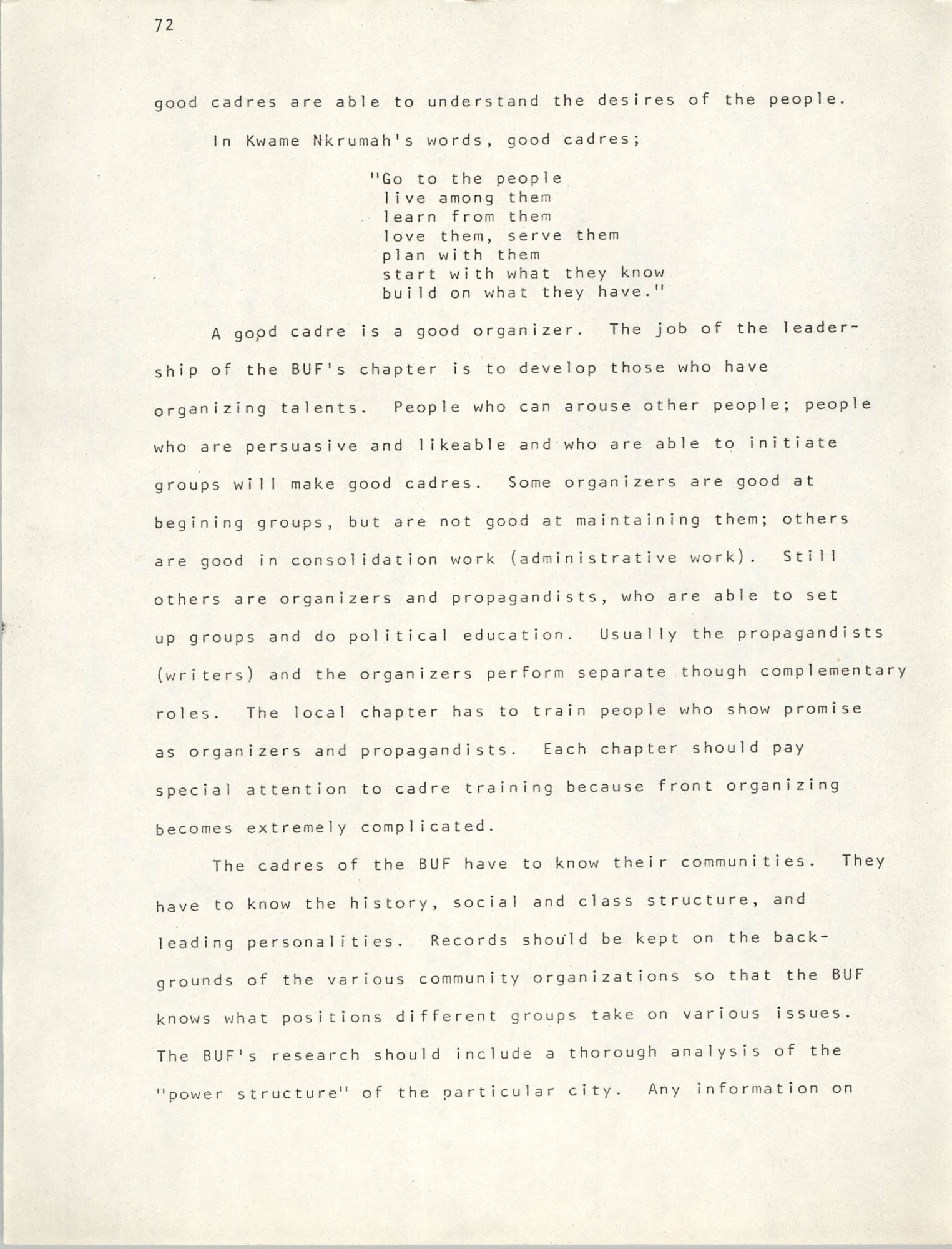 Pan-African Committee of the Black United Front, Page 72