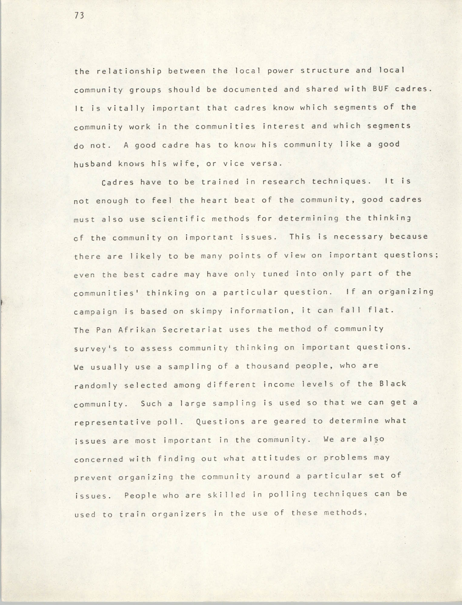 Pan-African Committee of the Black United Front, Page 73