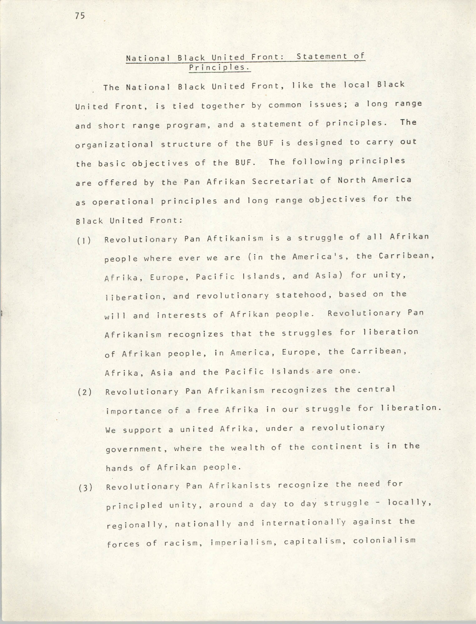Pan-African Committee of the Black United Front, Page 75