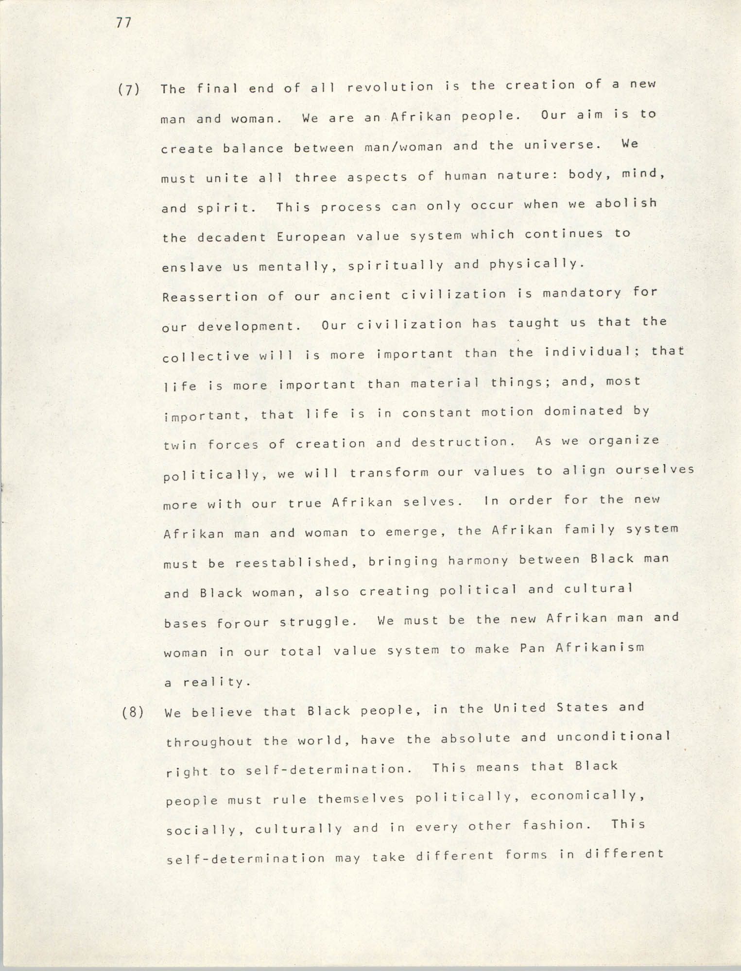 Pan-African Committee of the Black United Front, Page 77