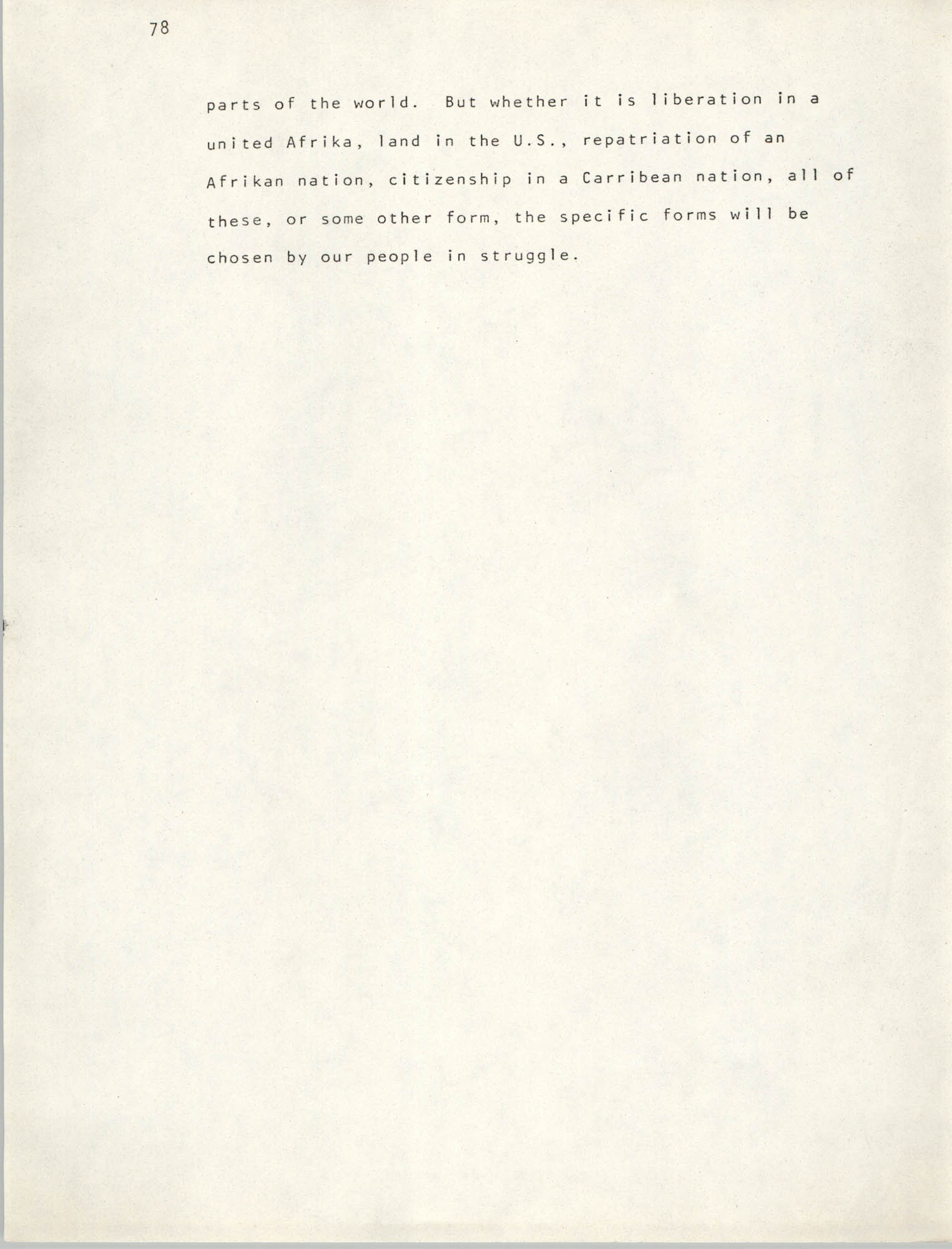 Pan-African Committee of the Black United Front, Page 78