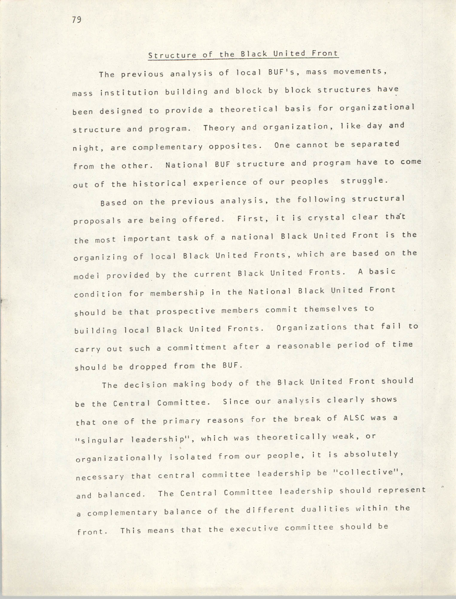 Pan-African Committee of the Black United Front, Page 79