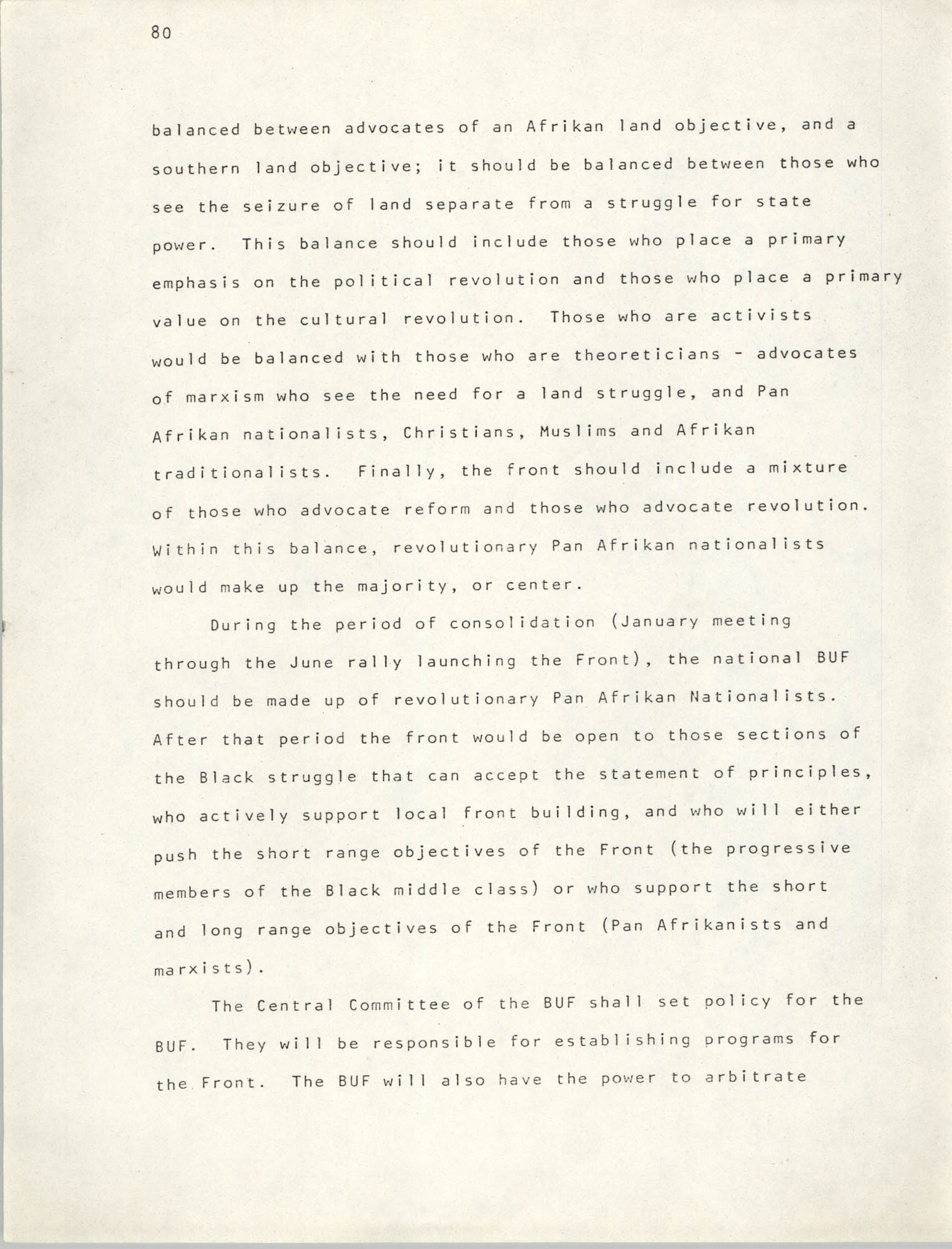 Pan-African Committee of the Black United Front, Page 80