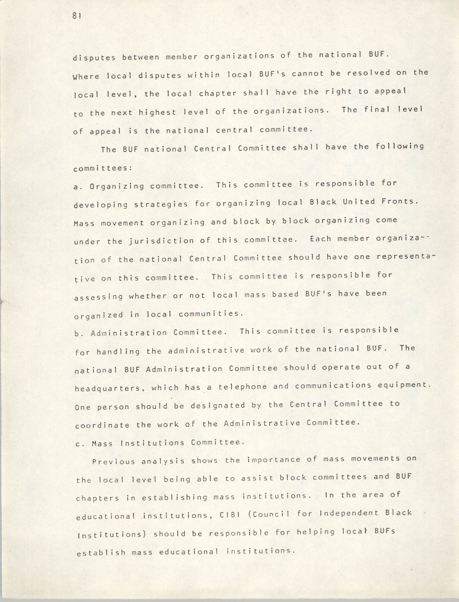 Pan-African Committee of the Black United Front, Page 81