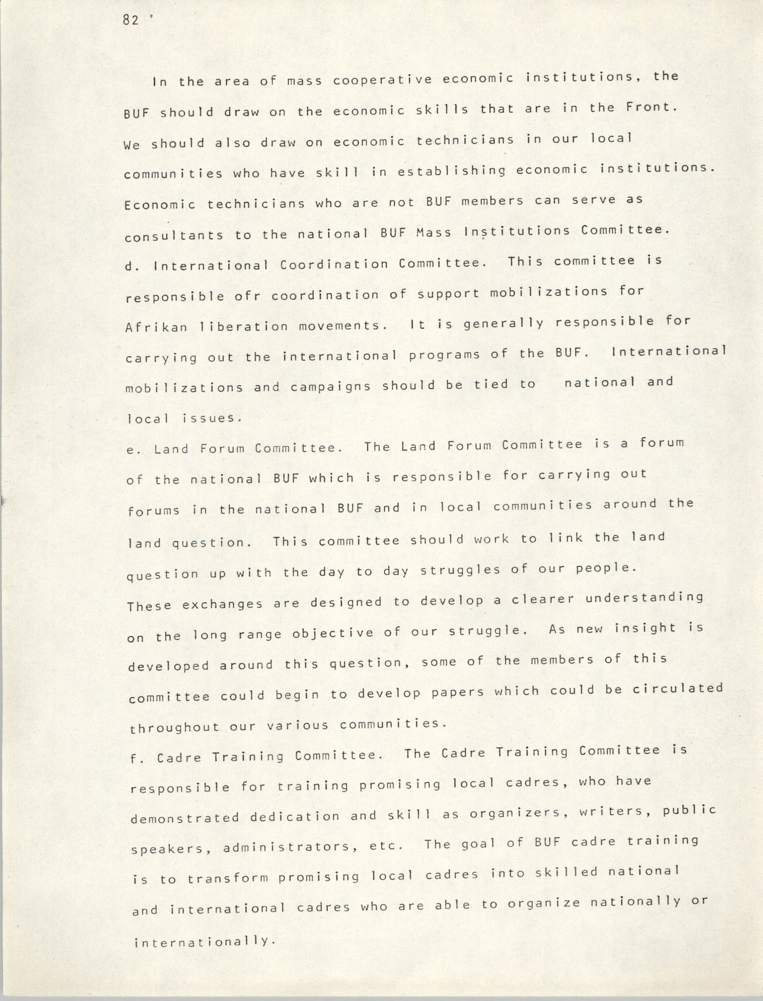 Pan-African Committee of the Black United Front, Page 82