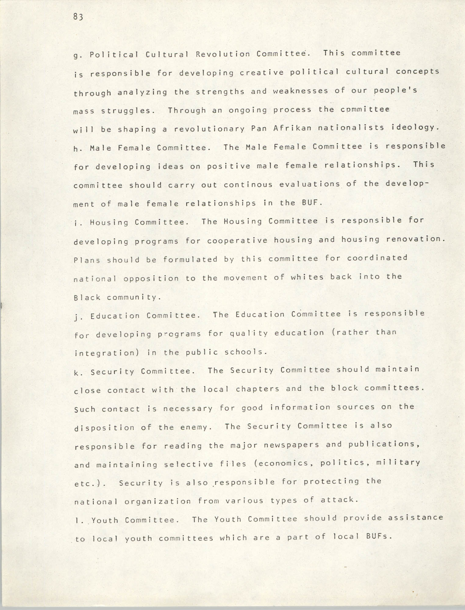 Pan-African Committee of the Black United Front, Page 83