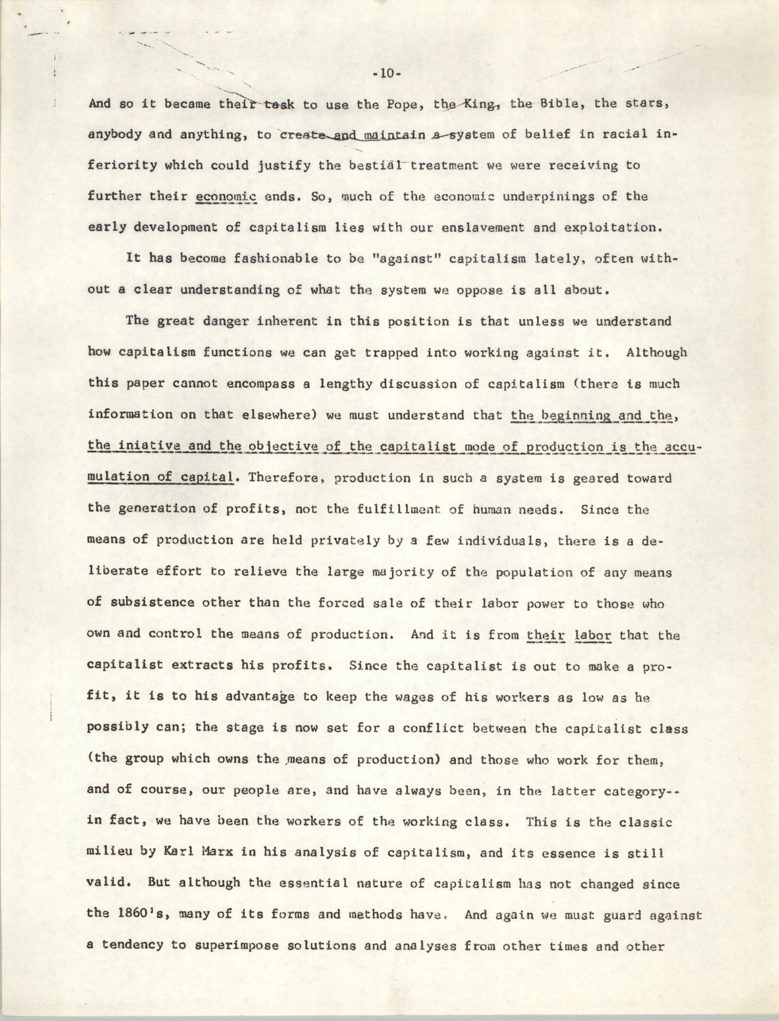 Student Organization for Black Unity Ideological Paper, Page 10