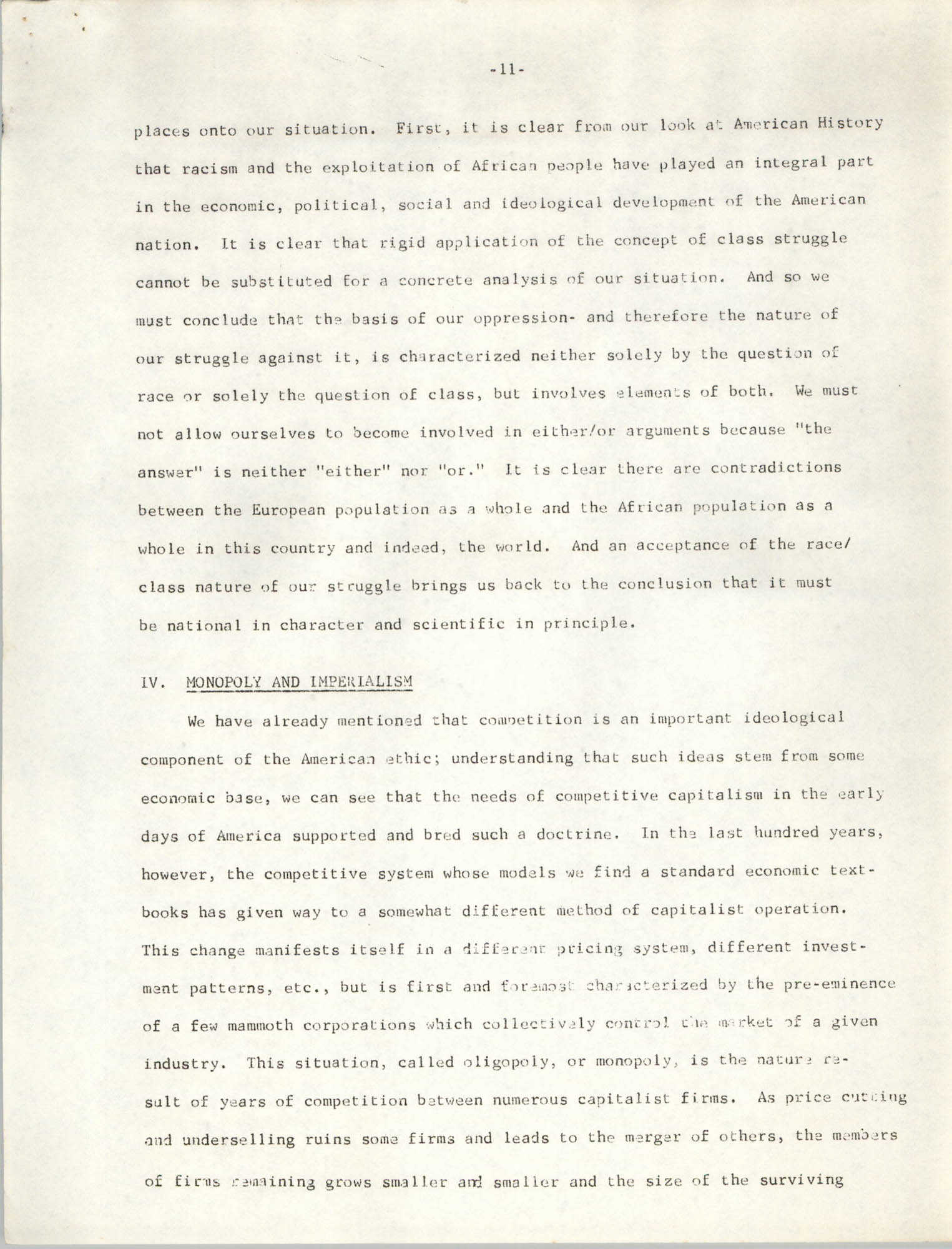 Student Organization for Black Unity Ideological Paper, Page 11