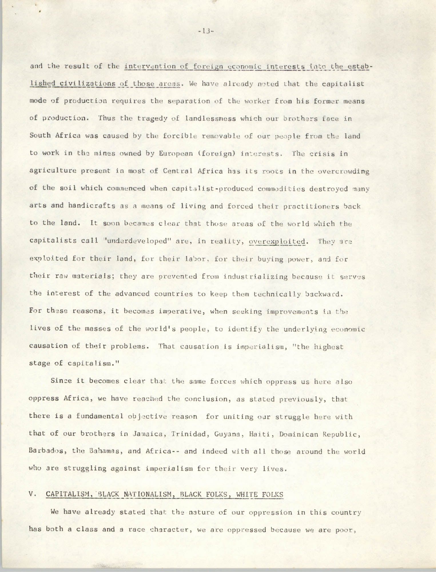 Student Organization for Black Unity Ideological Paper, Page 13