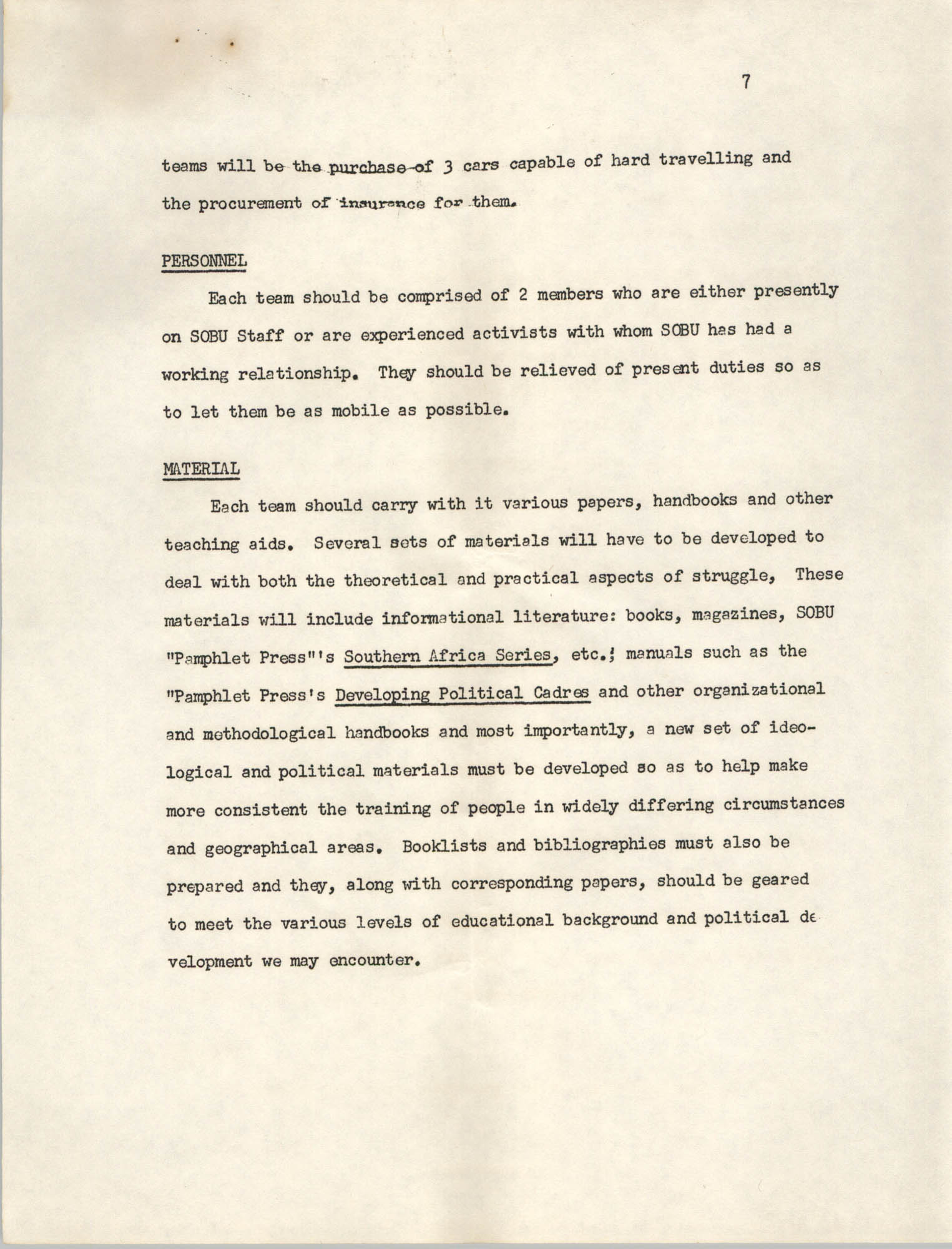 A Proposal for the Development of a Training Institute, Page 7