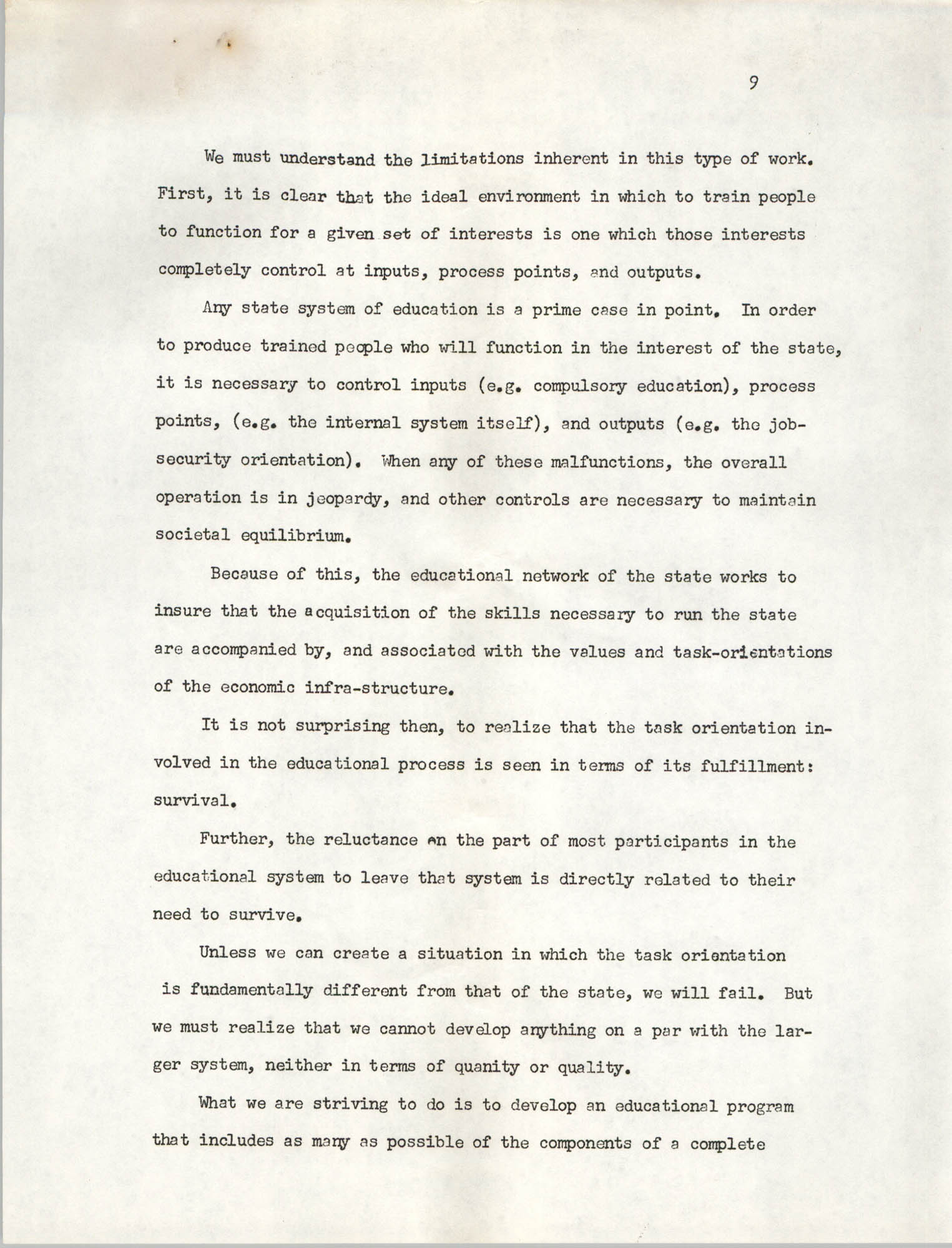 A Proposal for the Development of a Training Institute, Page 9