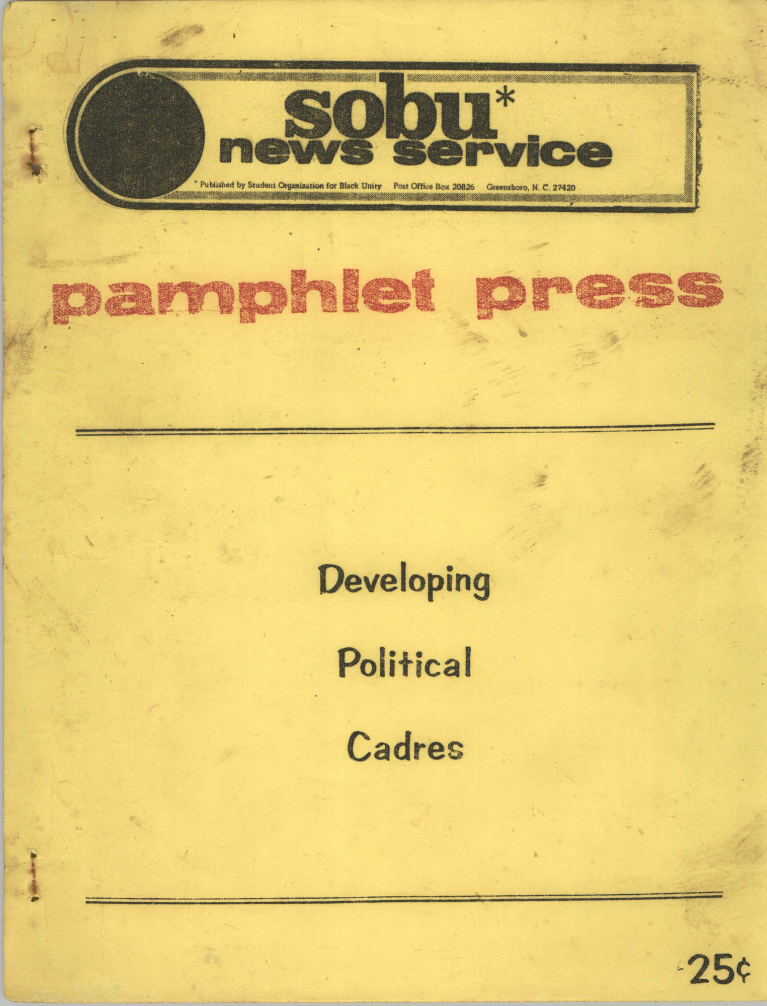 Developing Political Cadres, Front Cover
