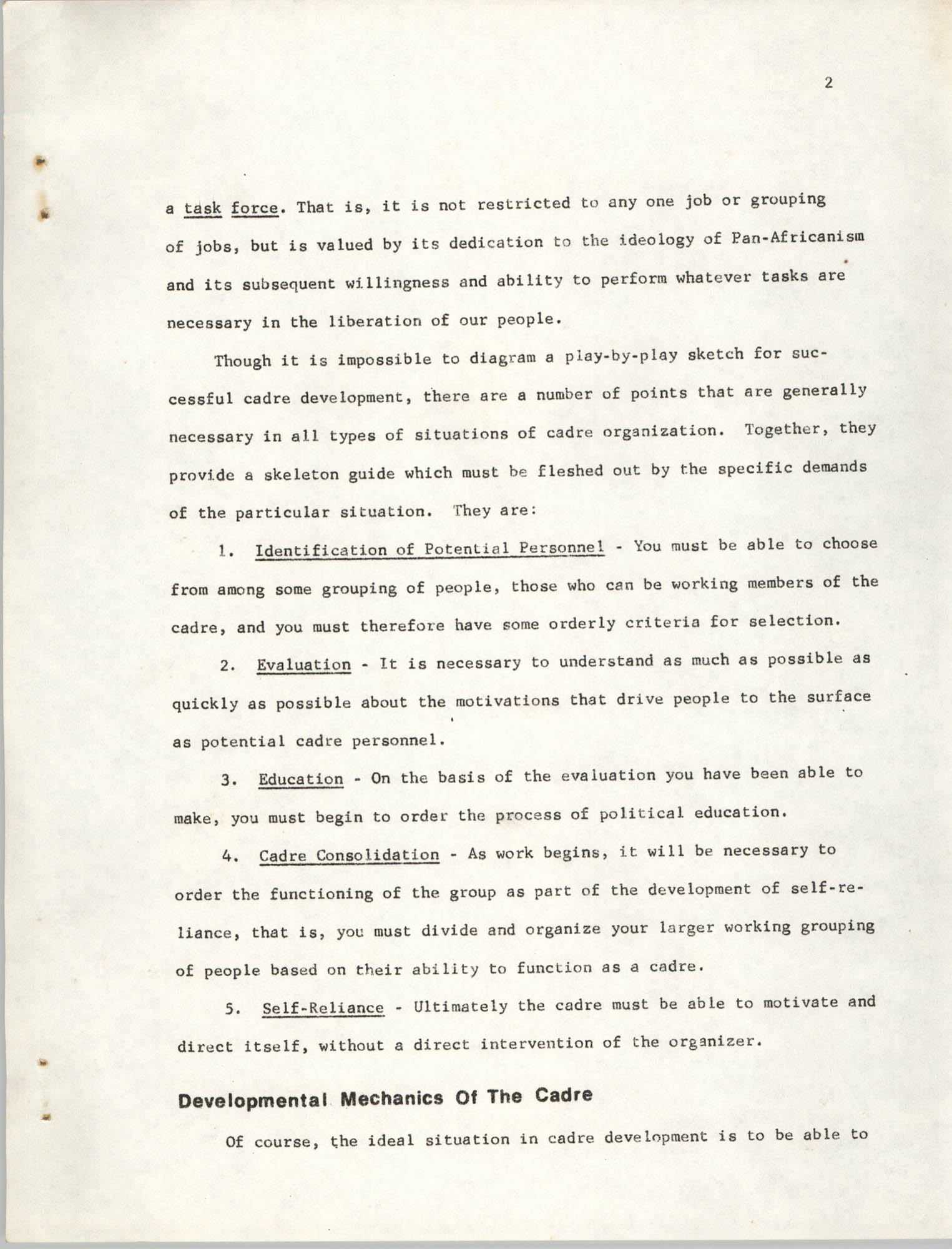 Developing Political Cadres, Page 2