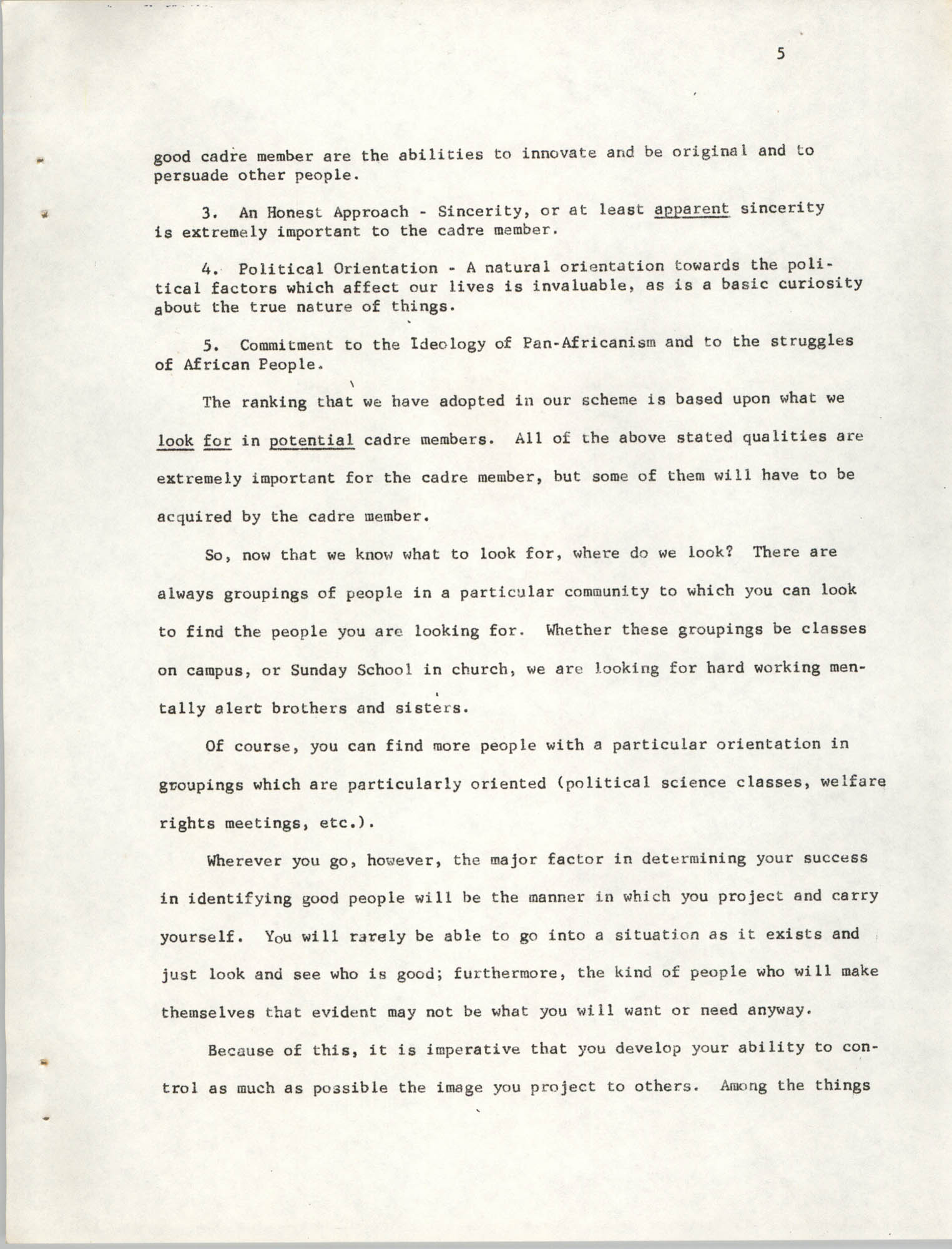 Developing Political Cadres, Page 5