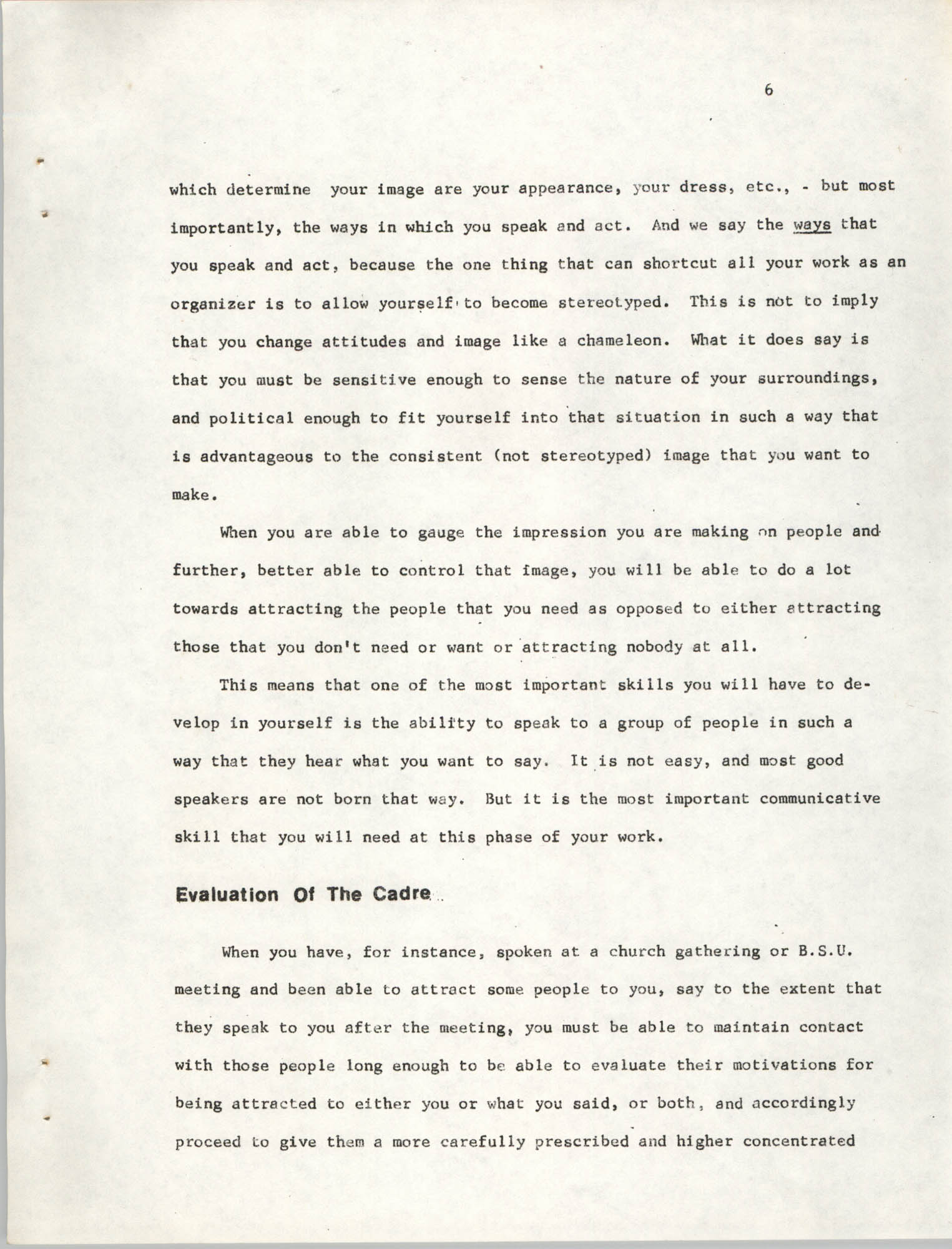 Developing Political Cadres, Page 6